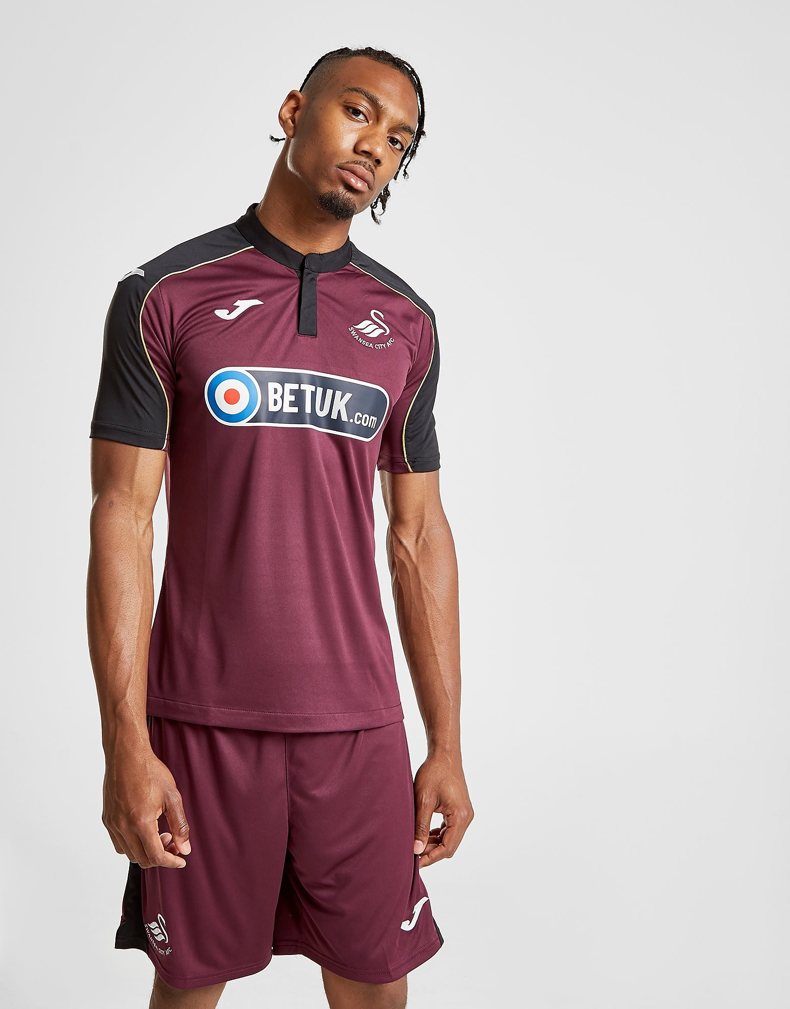 Joma Swansea City FC 2018/19 Third Shirt Heren - Rood - Heren