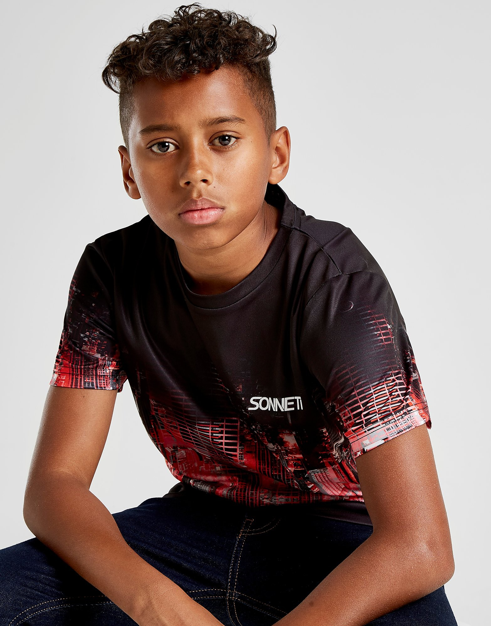 Sonneti Off Grid T-Shirt Junior - Zwart - Kind