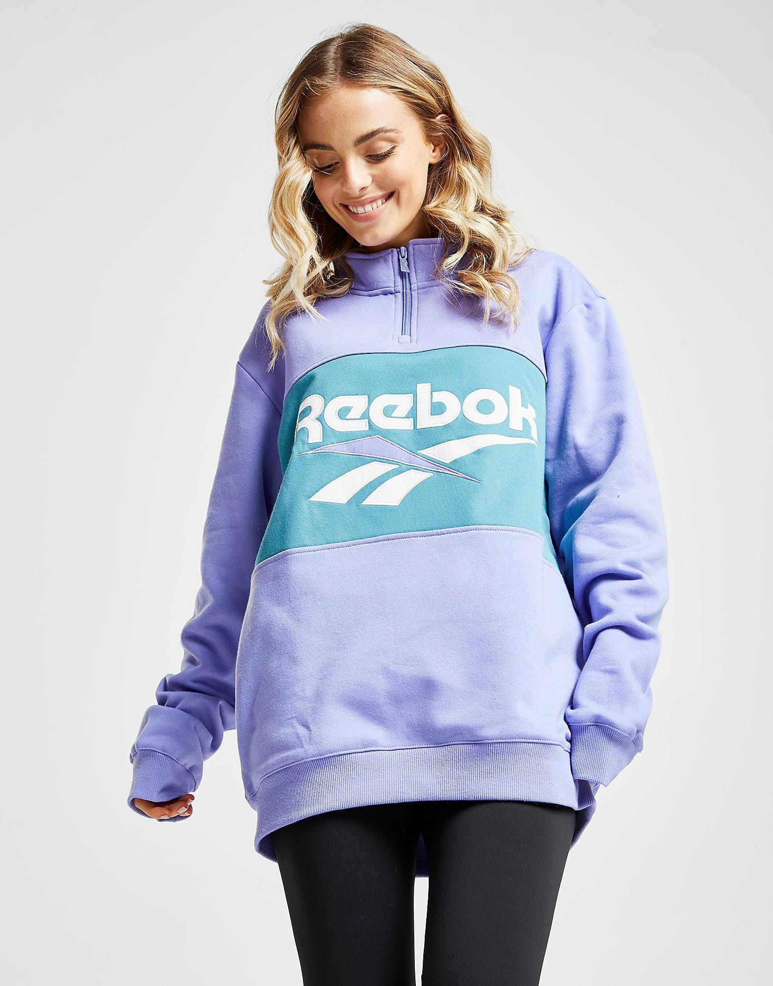 Reebok Vector 1/4 Zip Sweatshirt - Paars - Dames