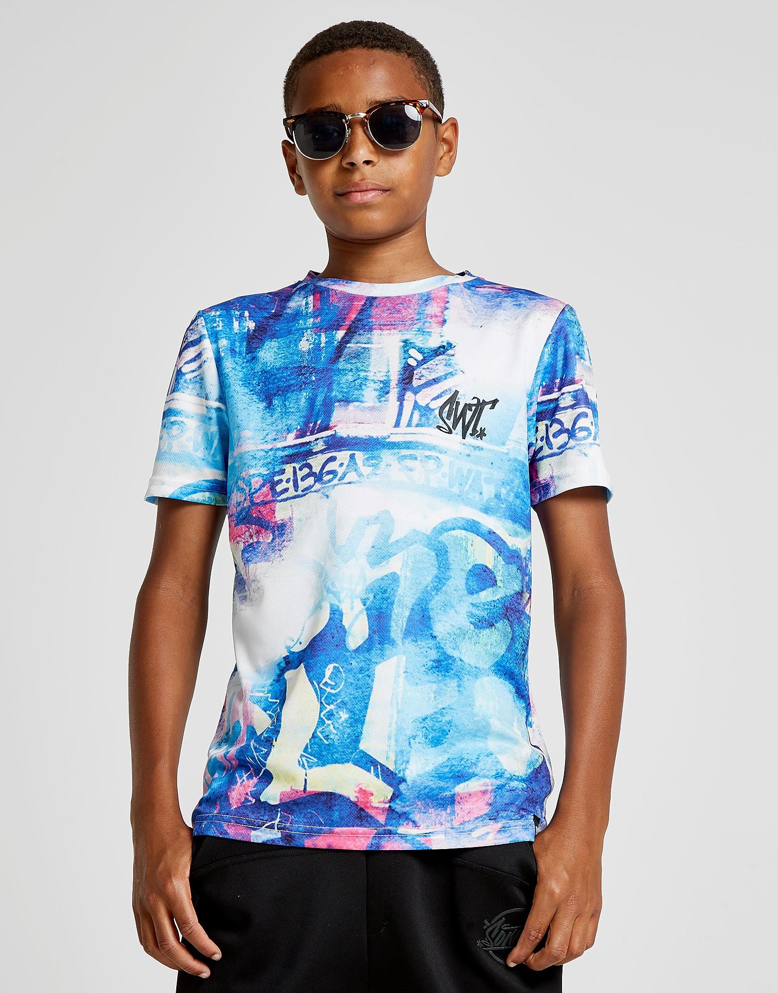 Sonneti Graffiti 1 T-Shirt Junior - Blauw - Kind