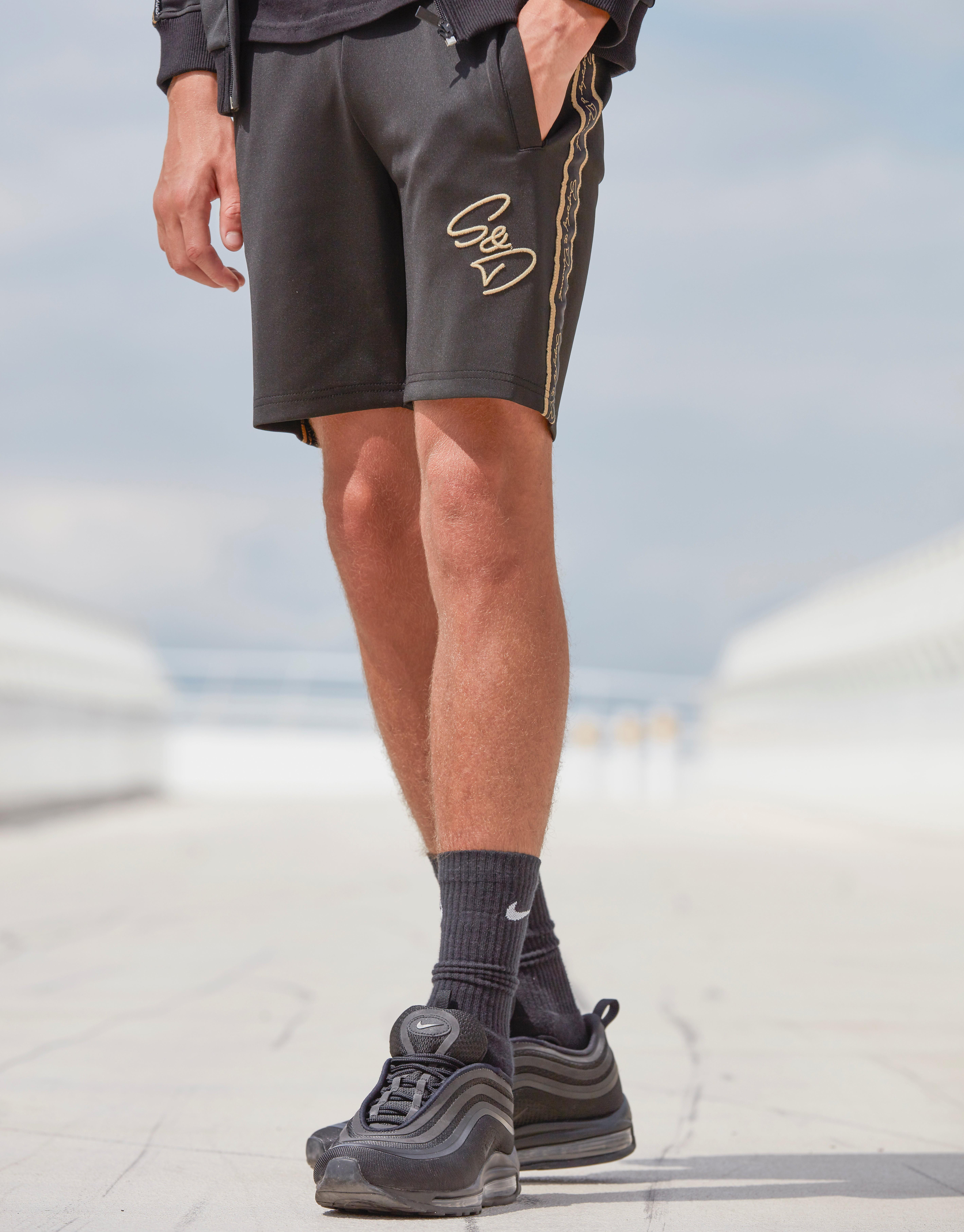 Supply & Demand Embroidered Shorts Junior - Zwart - Kind