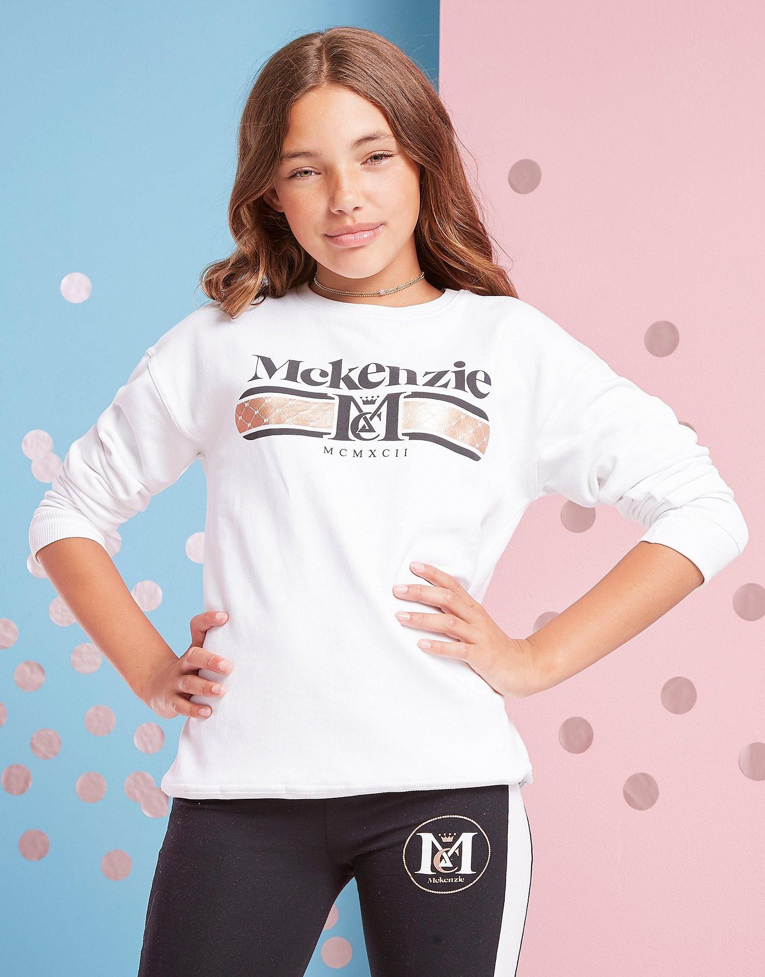 McKenzie Girls' Francesca Crew Sweatshirt Junior - alleen bij JD - Wit - Kind