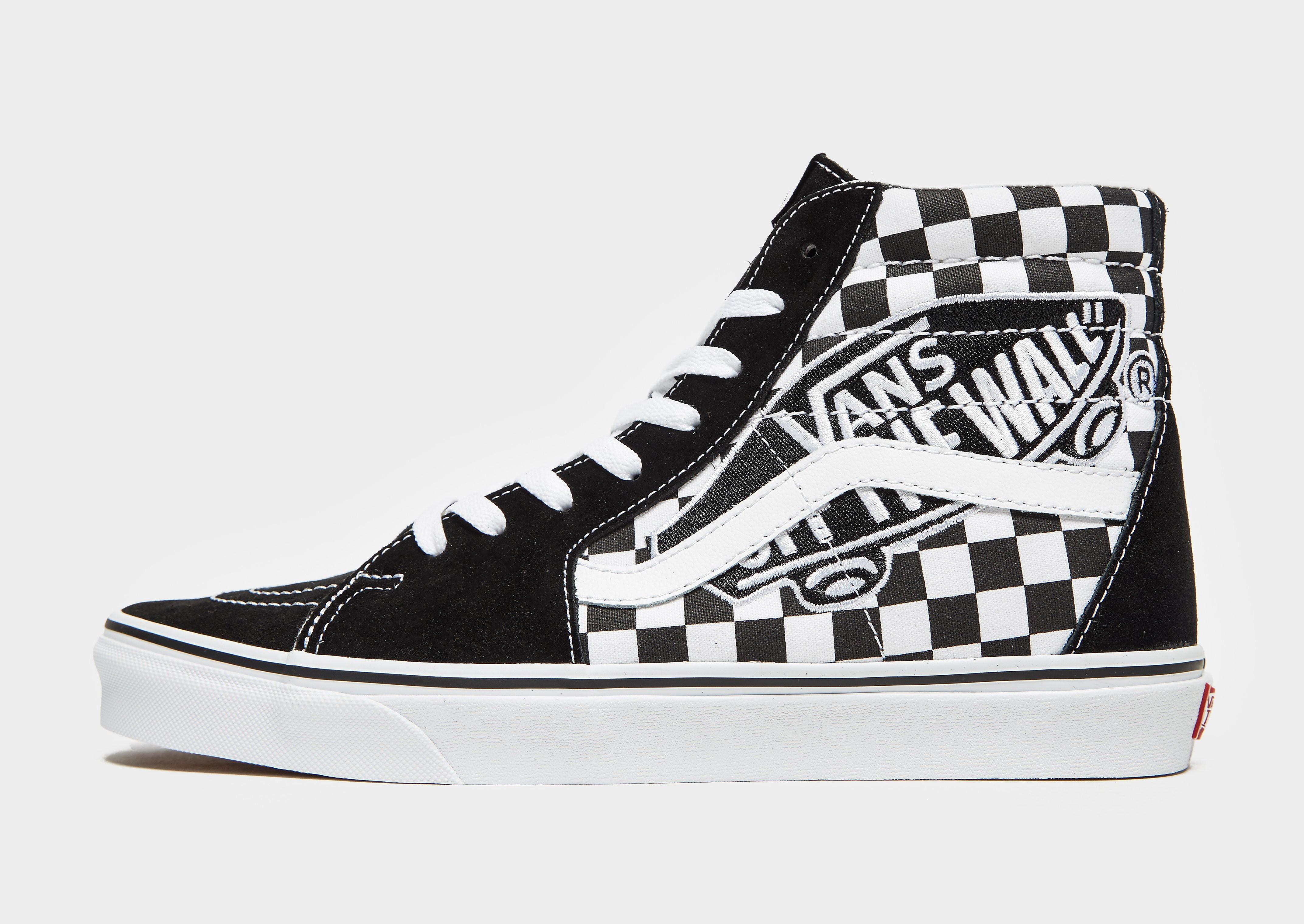 Vans Sk8 herensneaker zwart, print en wit