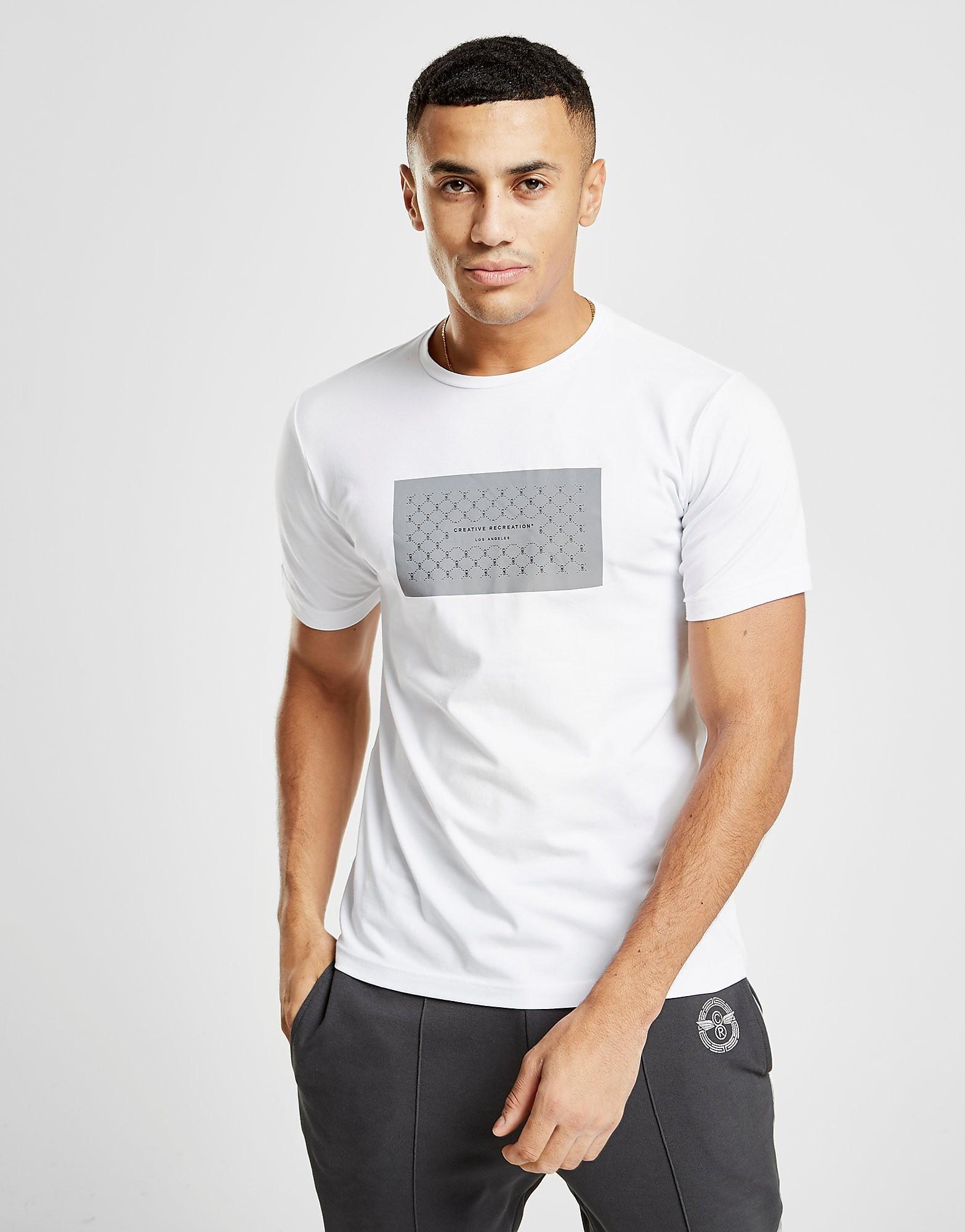 Creative Recreation Reflective Box T-Shirt - alleen bij JD - Wit - Heren