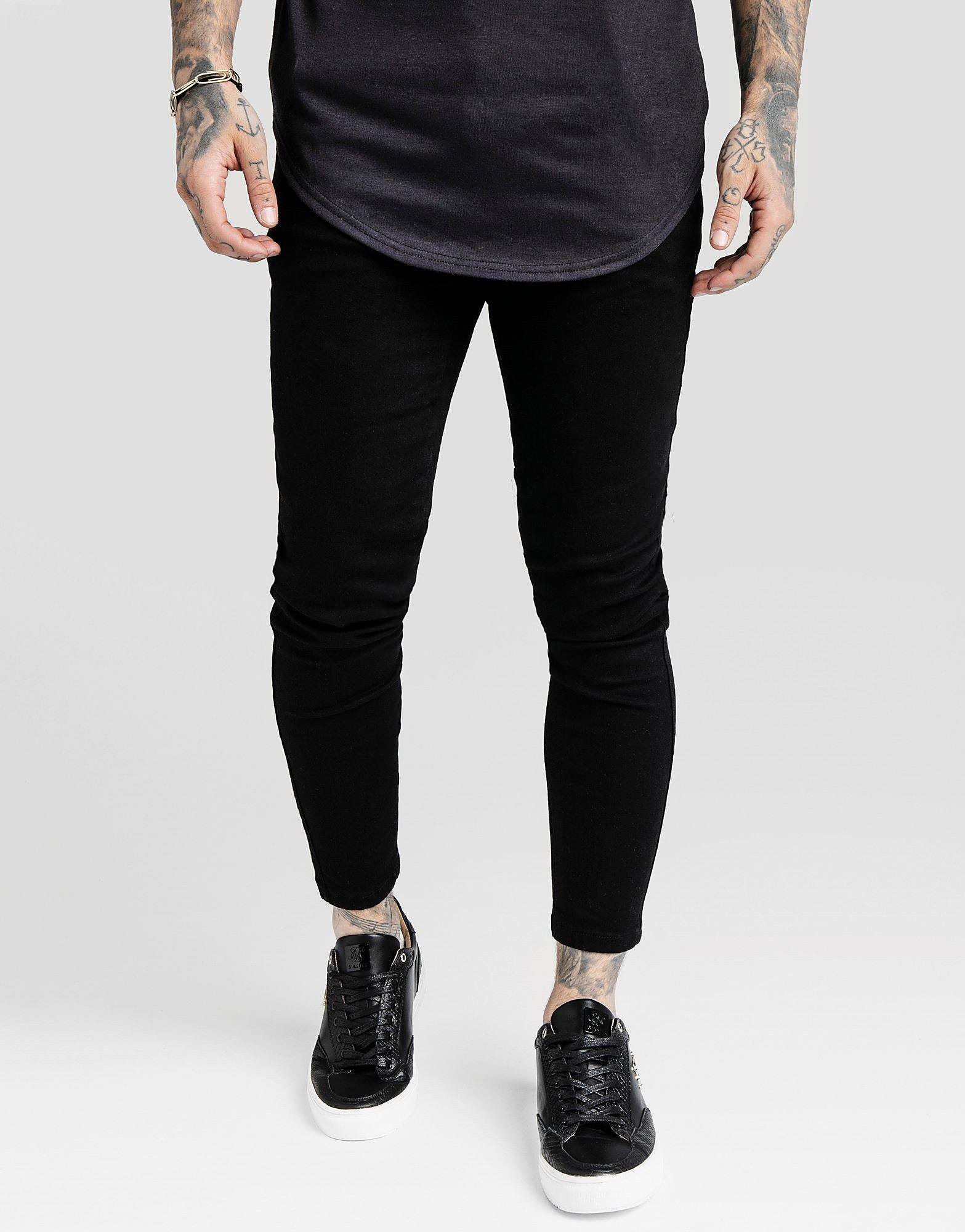 SikSilk Denim Jeans Heren - Zwart - Heren