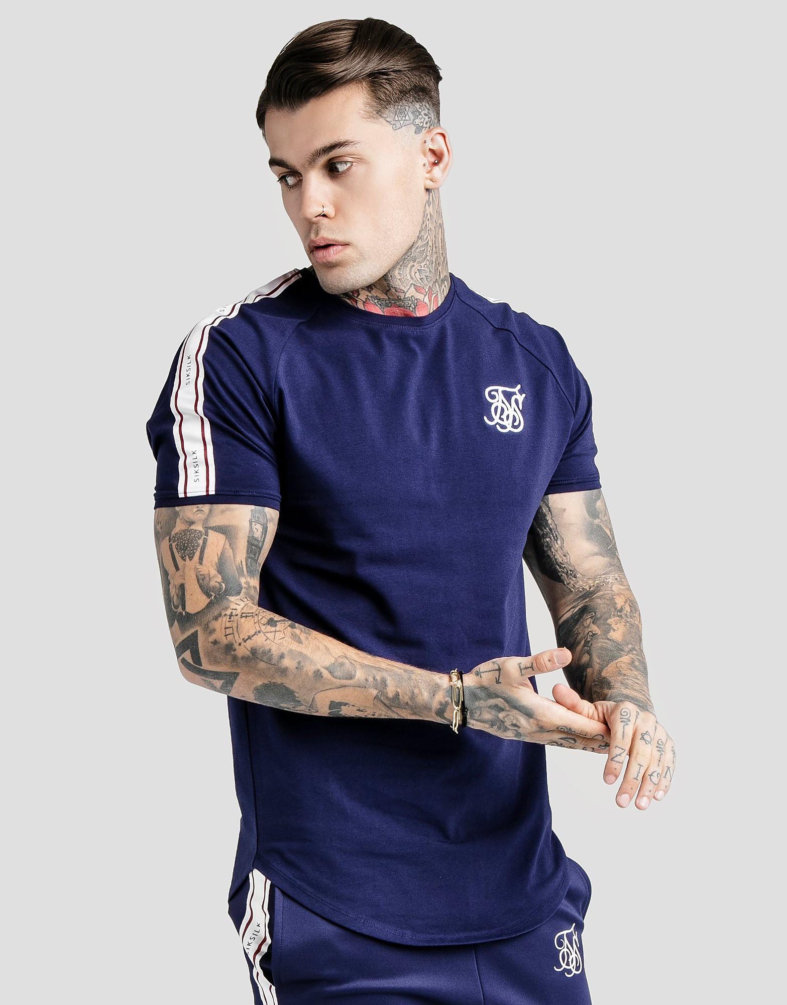 SikSilk Sleeve Tape T-Shirt - alleen bij JD - Blauw - Heren