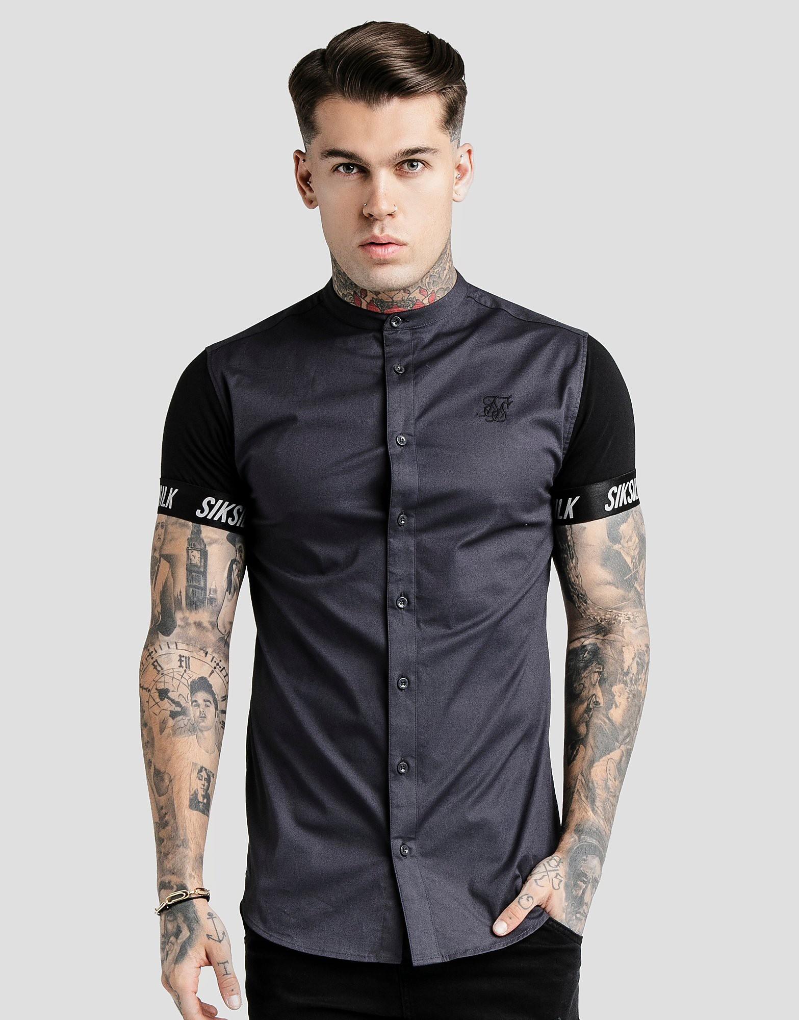 SikSilk Short Sleeve Shirt - alleen bij JD - Grijs - Heren