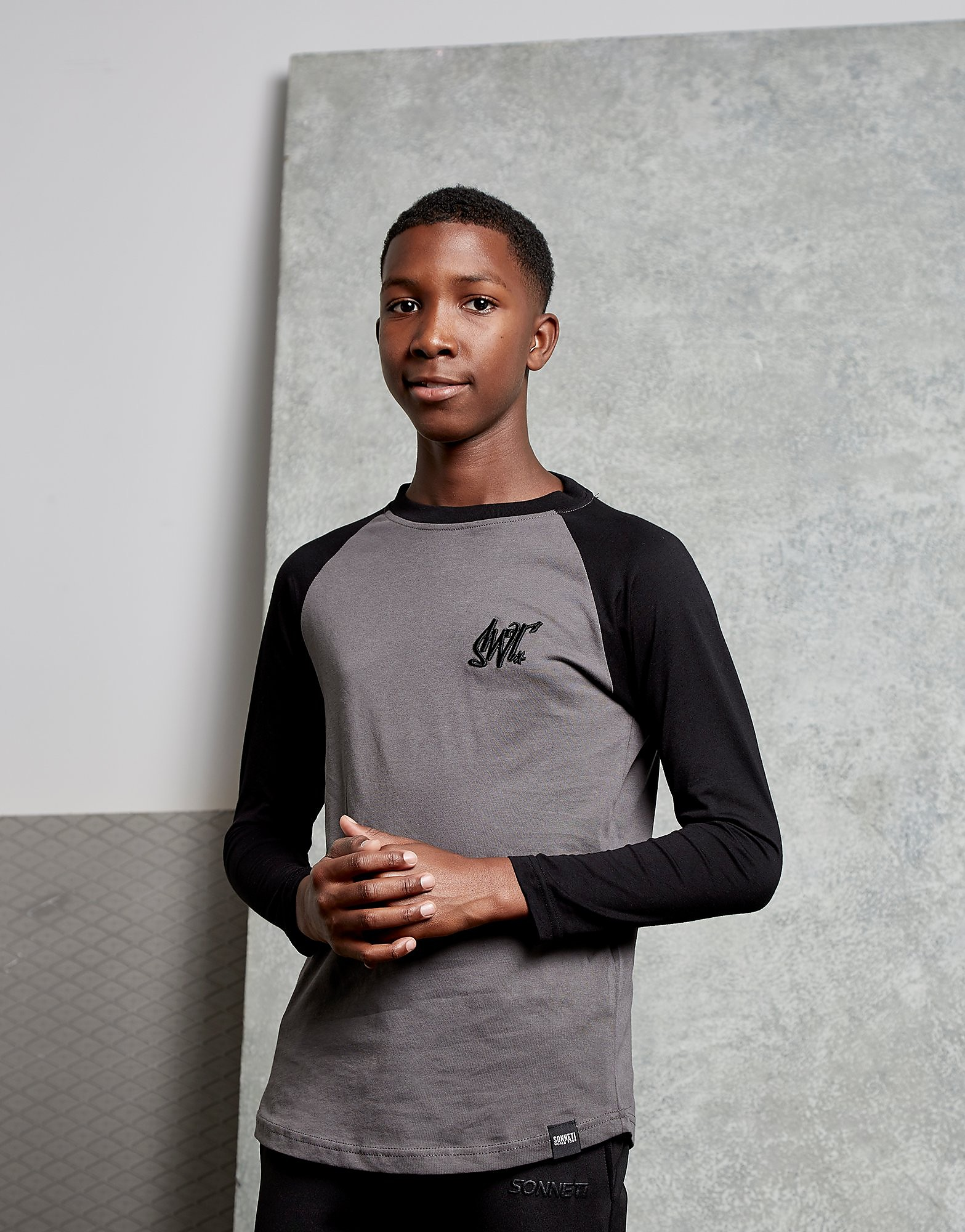 Sonneti Earl Long Sleeve T-Shirt Junior - Bruin - Kind
