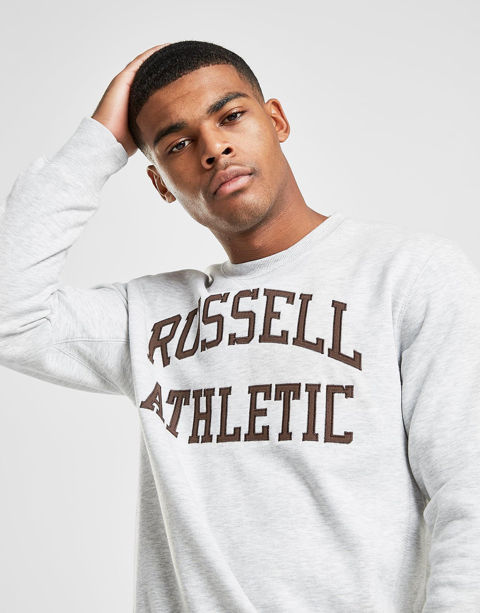 Russell Athletic Arch Logo Crew Sweatshirt - Grau - Mens, Grau