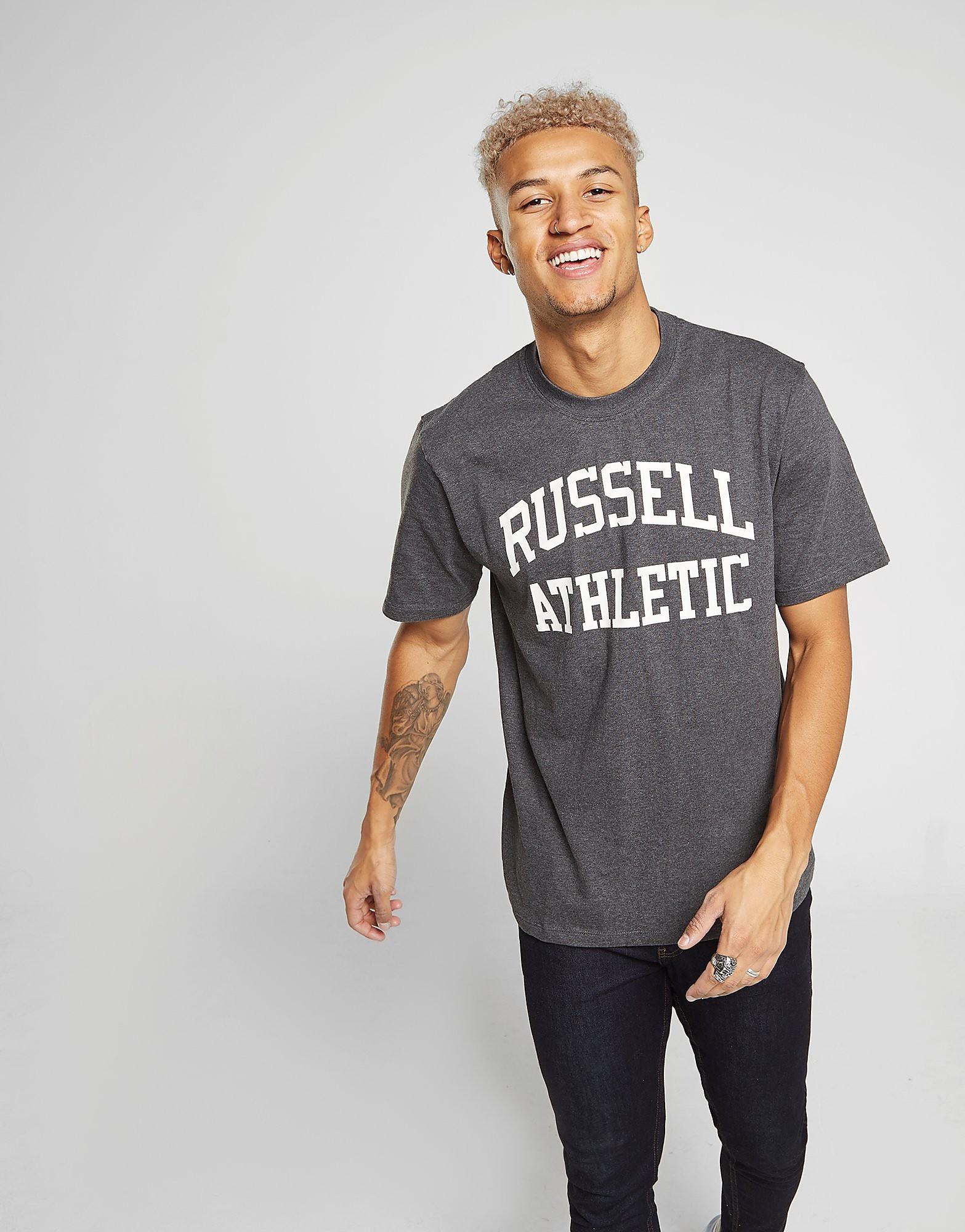 Russell Athletic Arch Logo Short Sleeve T-Shirt Heren - Grijs - Heren