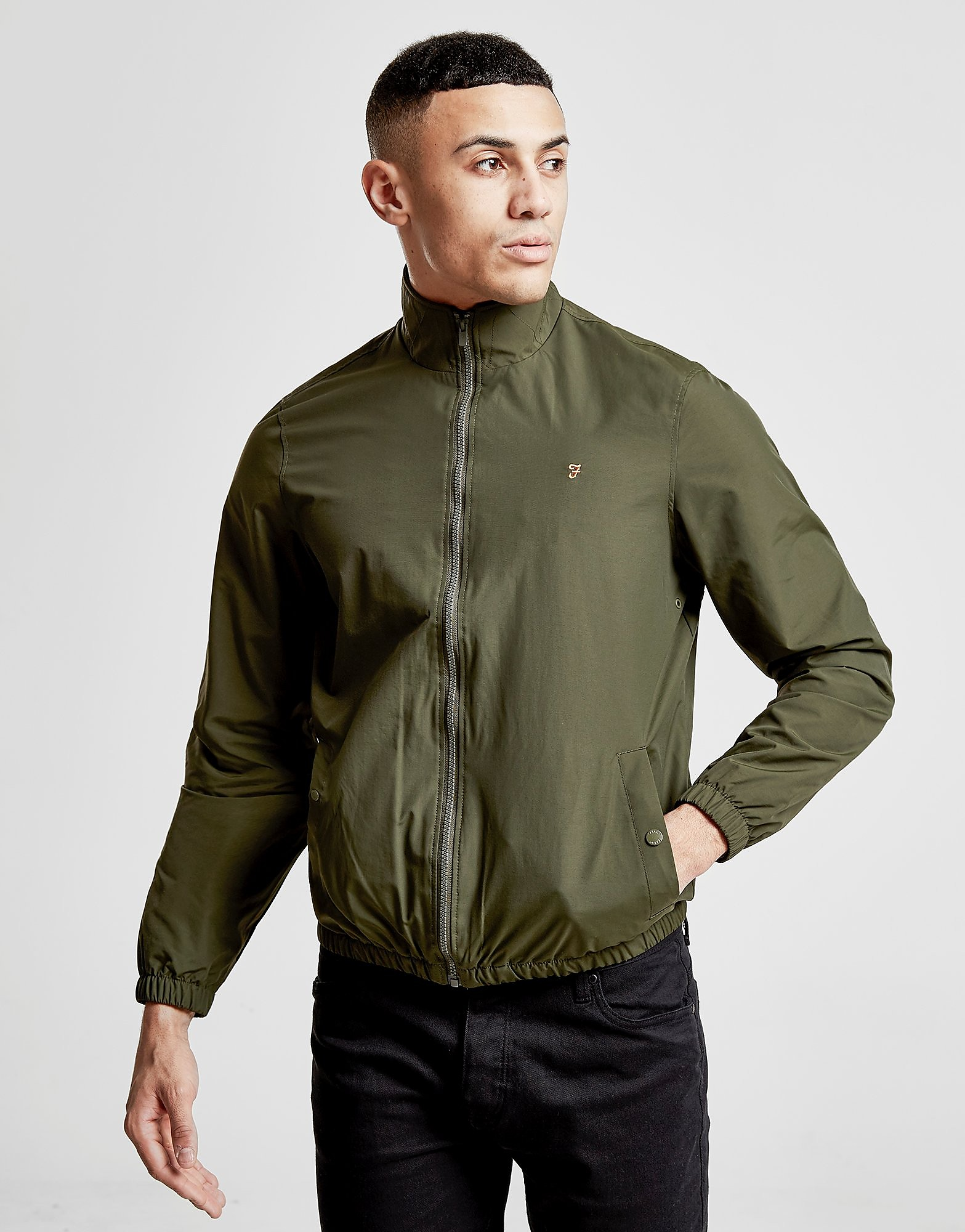 Farah Funnel Jacket - Khaki/Yellow - Heren