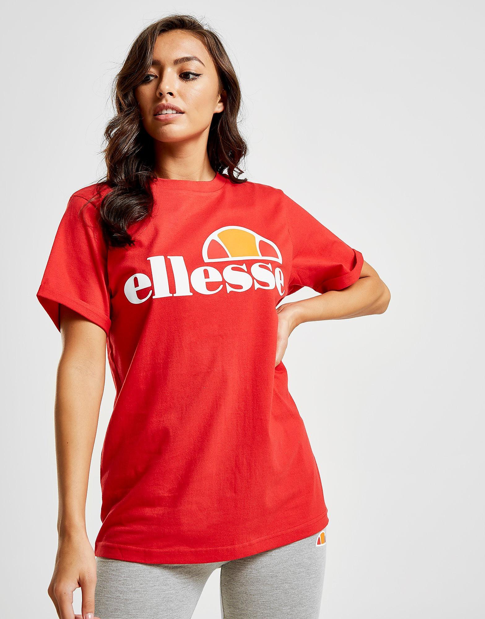 Ellesse Core Boyfriend Logo T-Shirt Dames - alleen bij JD - Rood - Dames