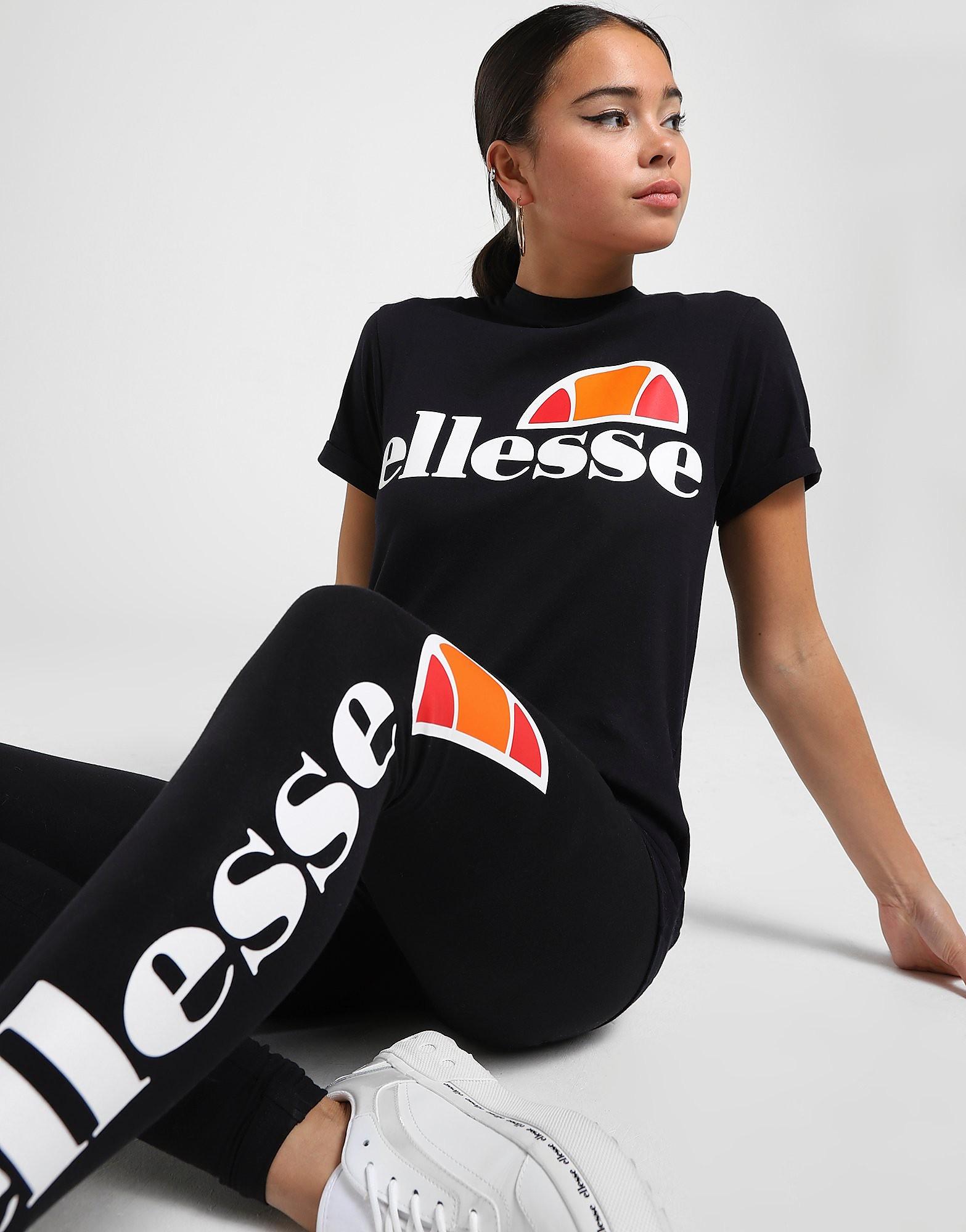 Ellesse Core Boyfriend Logo T-Shirt Dames - alleen bij JD - Zwart - Dames
