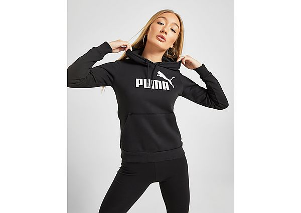 PUMA Core Overhead Hoodie Dames - Black/White - Dames, Black/White