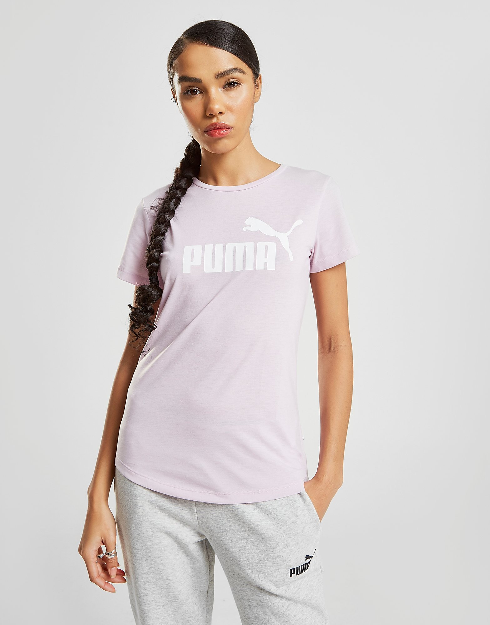 PUMA Core T-Shirt Dames - Roze - Dames