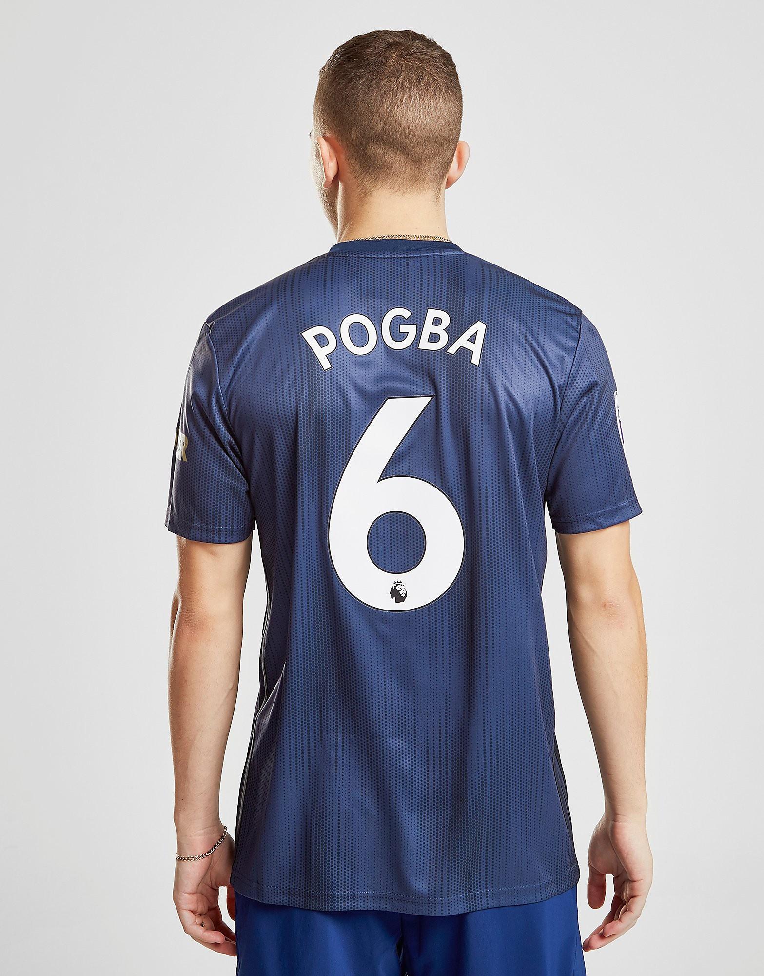 adidas Manchester United FC 2018/19 Pogba #6 Third Shirt - Blauw - Heren