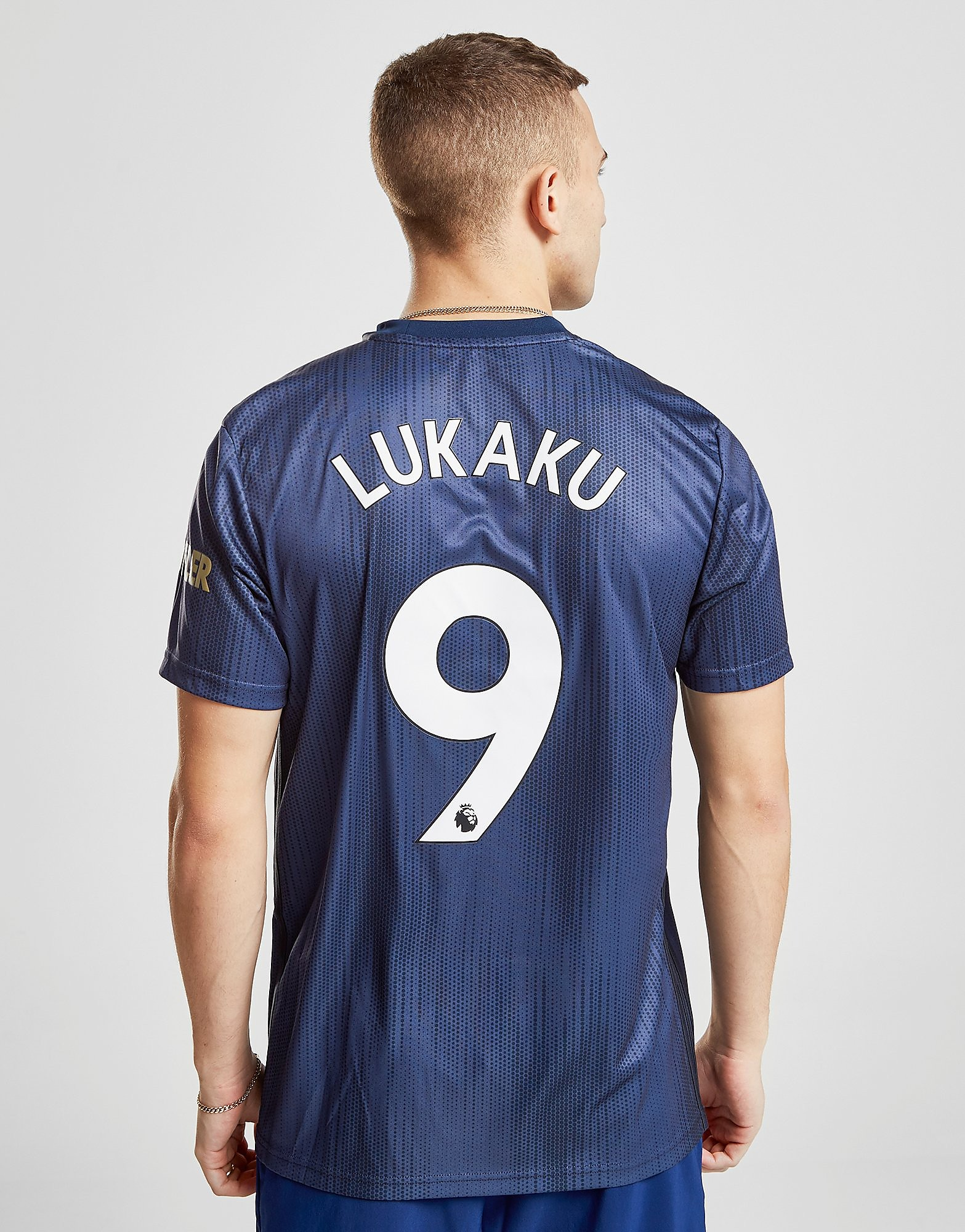 adidas Manchester United FC 2018/19 Lukaku #9 Third Shirt - Blauw - Heren