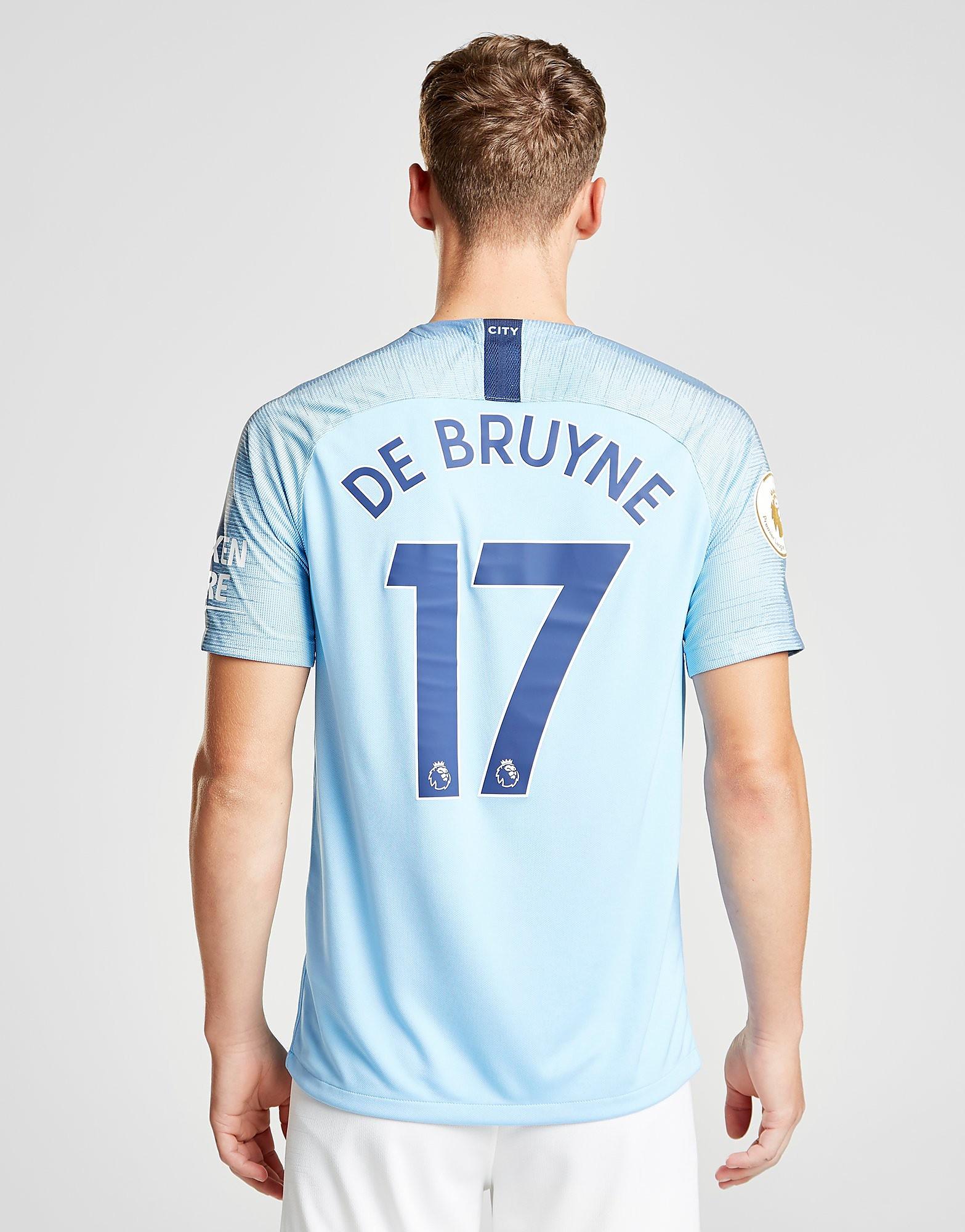 Nike Manchester City 2018/19 De Bruyne #17 Home Shirt - Bleu, Bleu