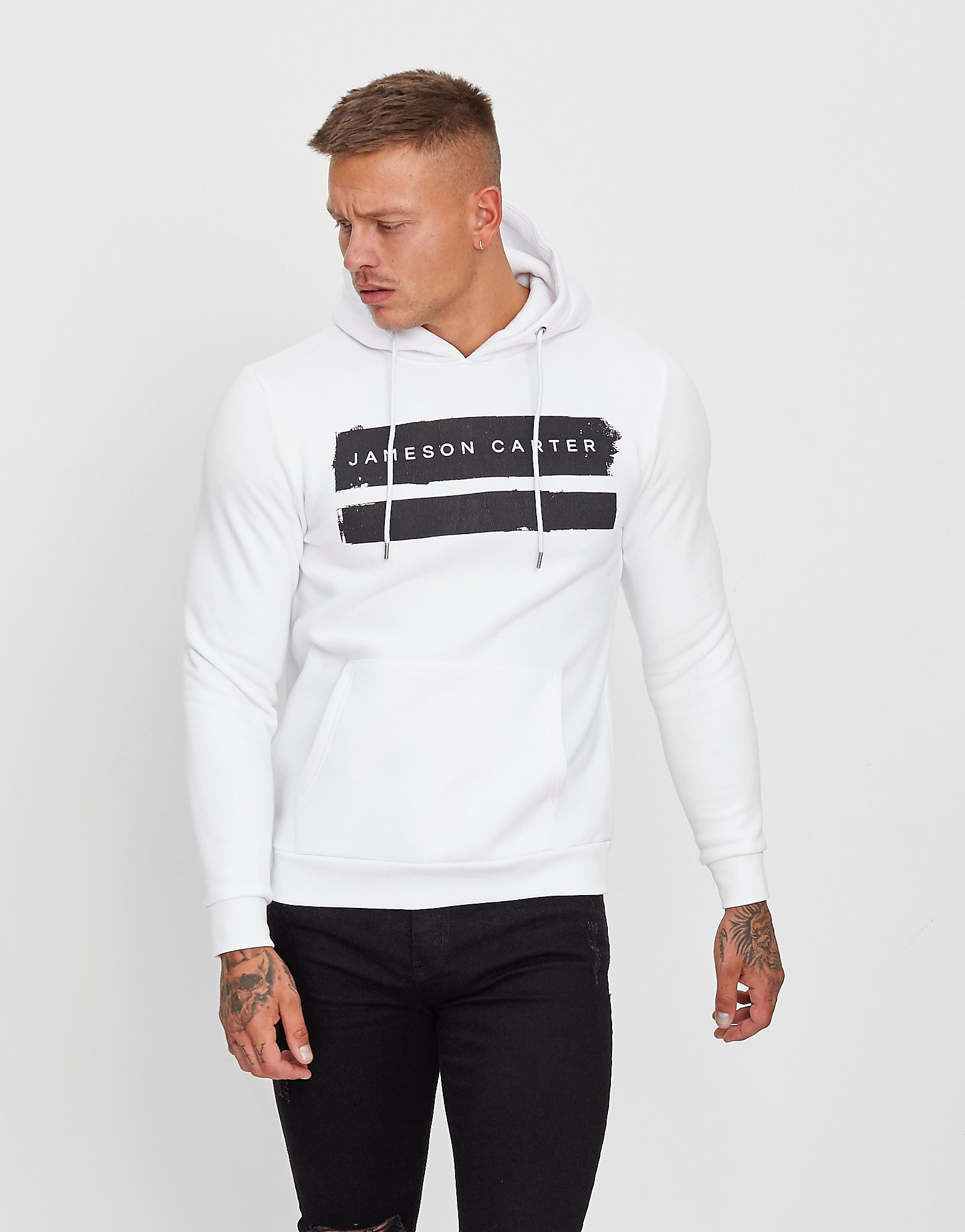 JAMESON CARTER Paint Hoodie - Wit - Heren