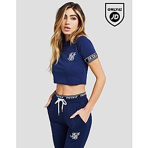 SikSilk Tape Sleeve Crop T-Shirt ... e6c68342f
