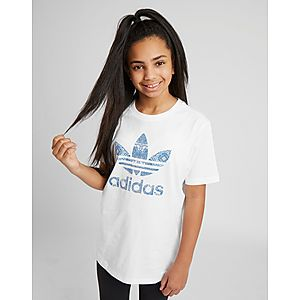 adidas Originals Girls  Trefoil Infill T-Shirt Junior ... 75bcb5c4f