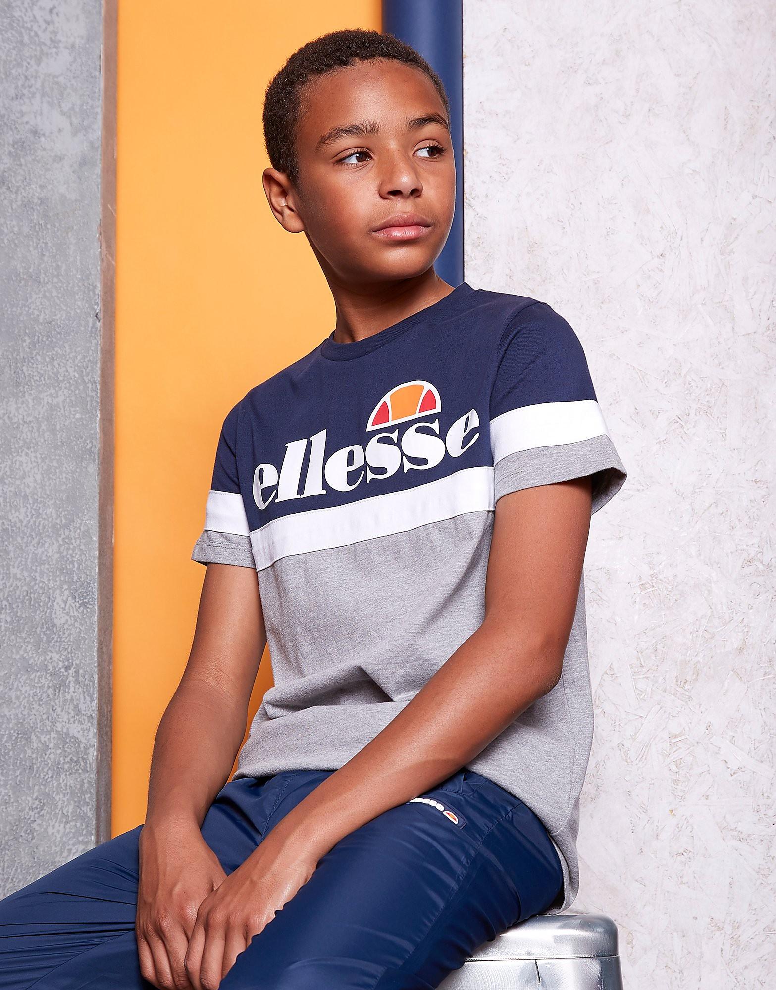 Ellesse Logo Panel T-Shirt Junior - alleen bij JD - Blauw - Kind