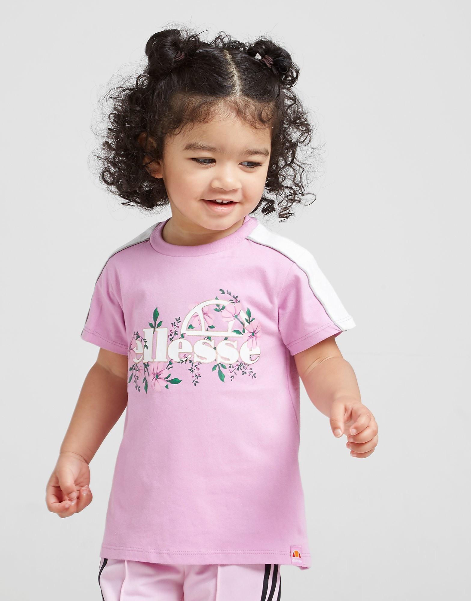 Ellesse Girls' Aster T-Shirt Baby's - alleen bij JD - Lilac/White - Kind