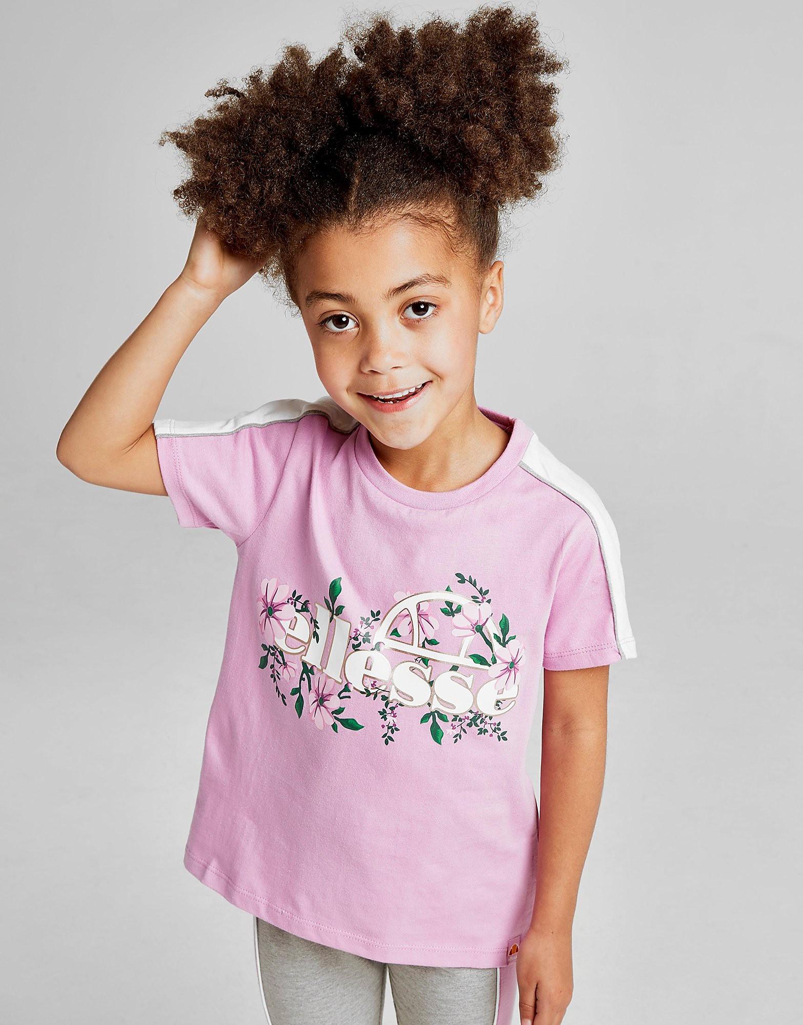 Ellesse Girls' Aster T-Shirt Children - alleen bij JD - Roze - Kind