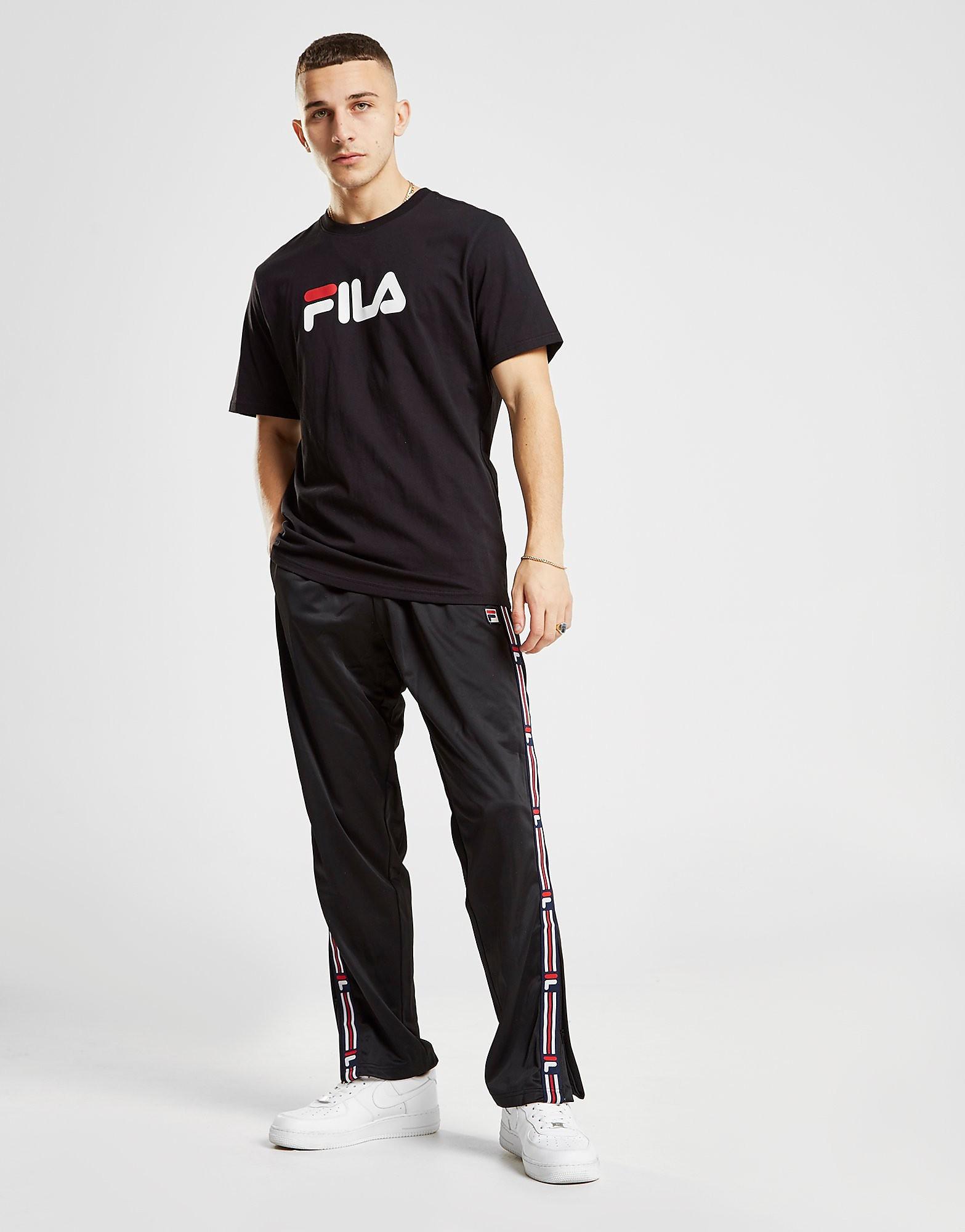 Fila Ush Woven Tape Track Pants Heren - BLK/BLK - Heren