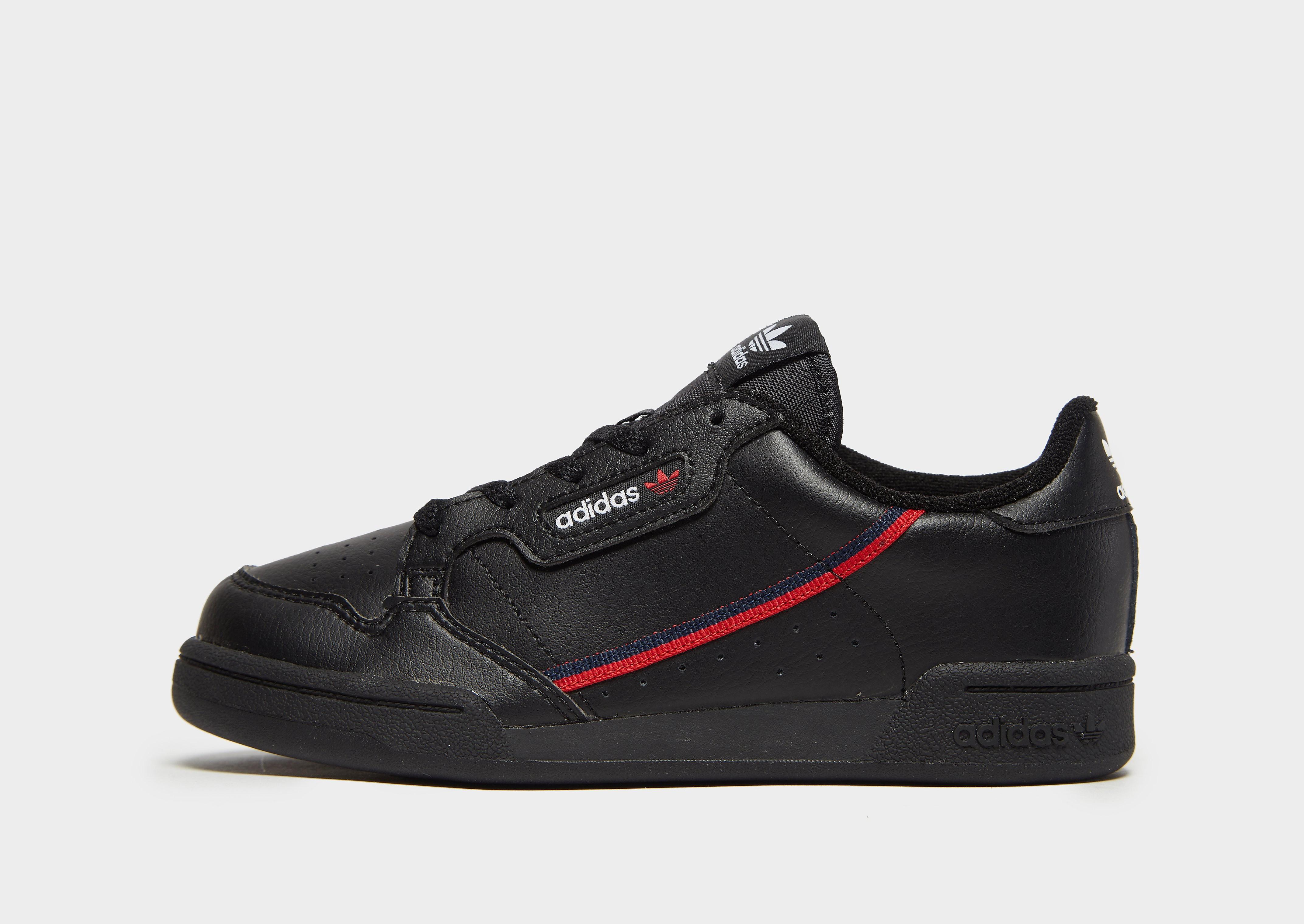 Adidas Continental 80 kindersneaker zwart, blauw en rood