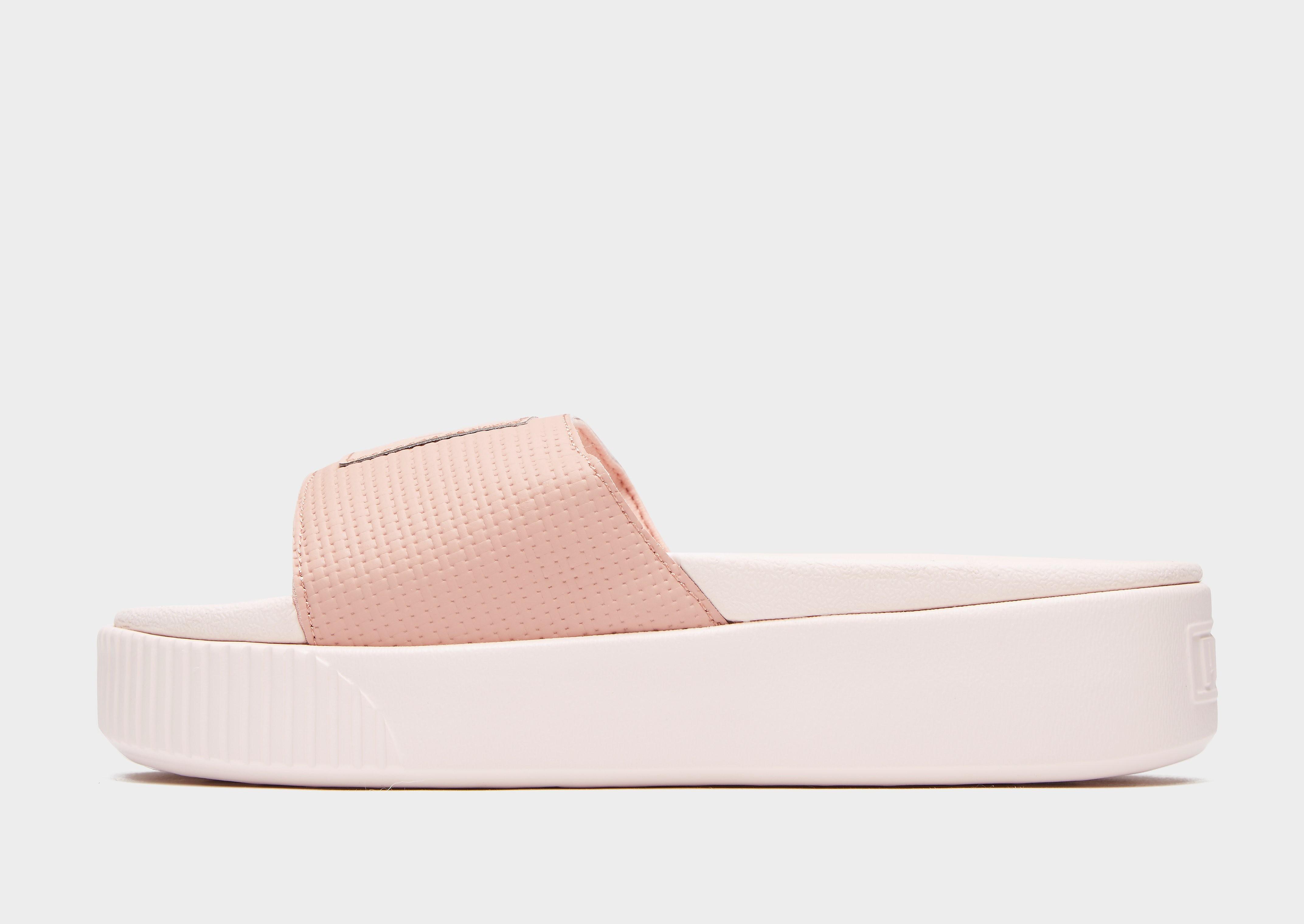 PUMA Platform Slides Dames - Roze - Dames