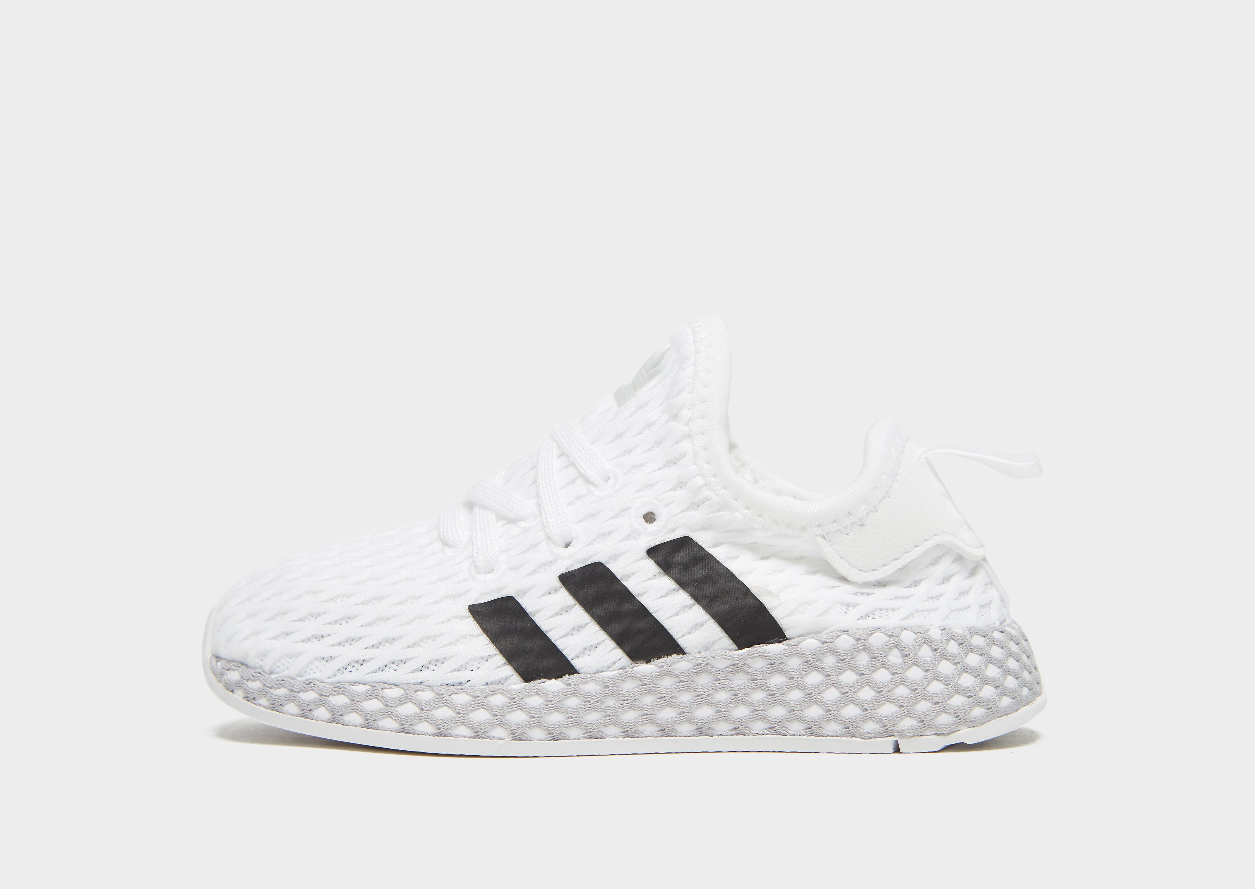 Adidas Deerupt kindersneaker wit en zwart