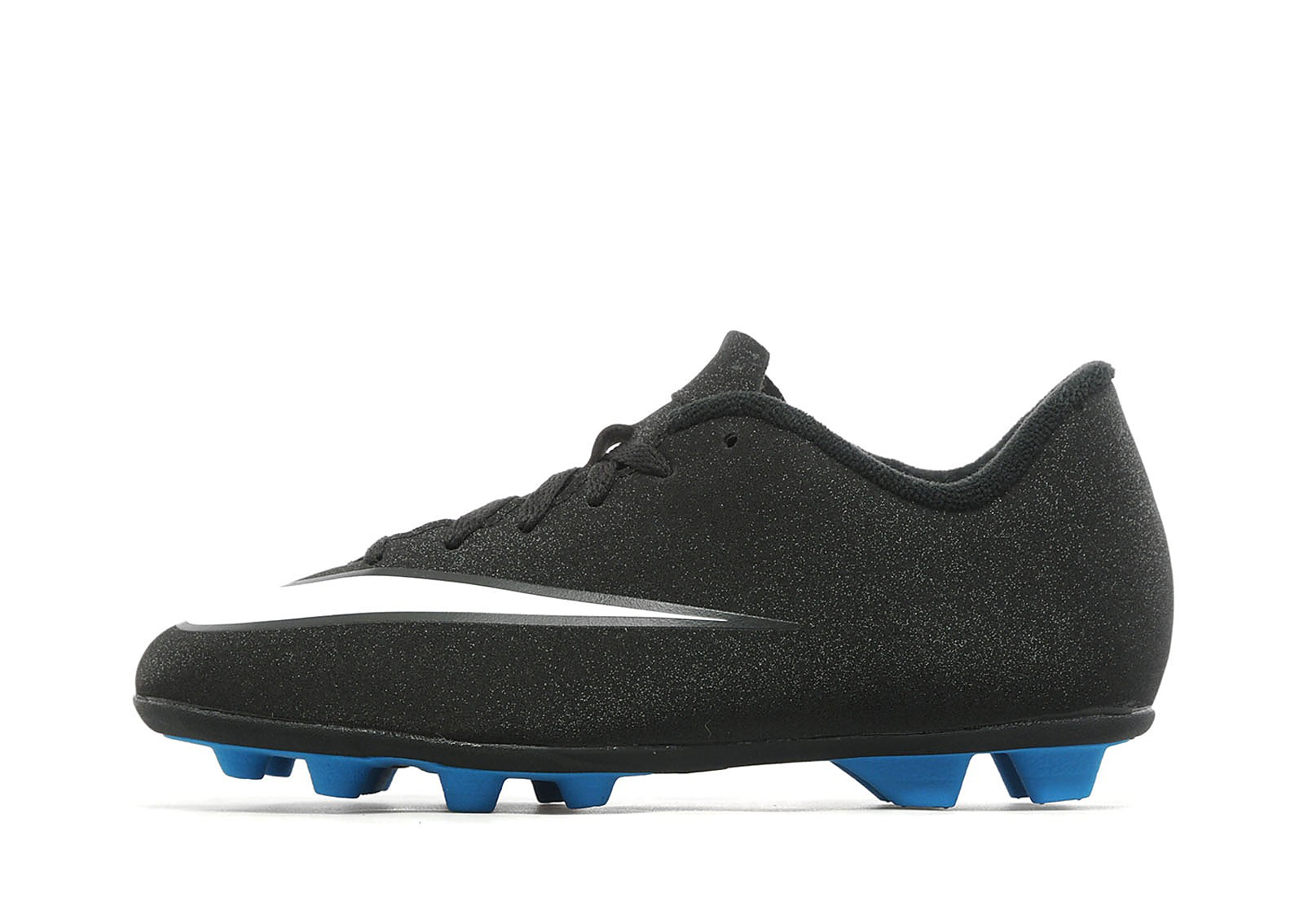 Kids CR7 Mercurial Vortex FG Children Black/White