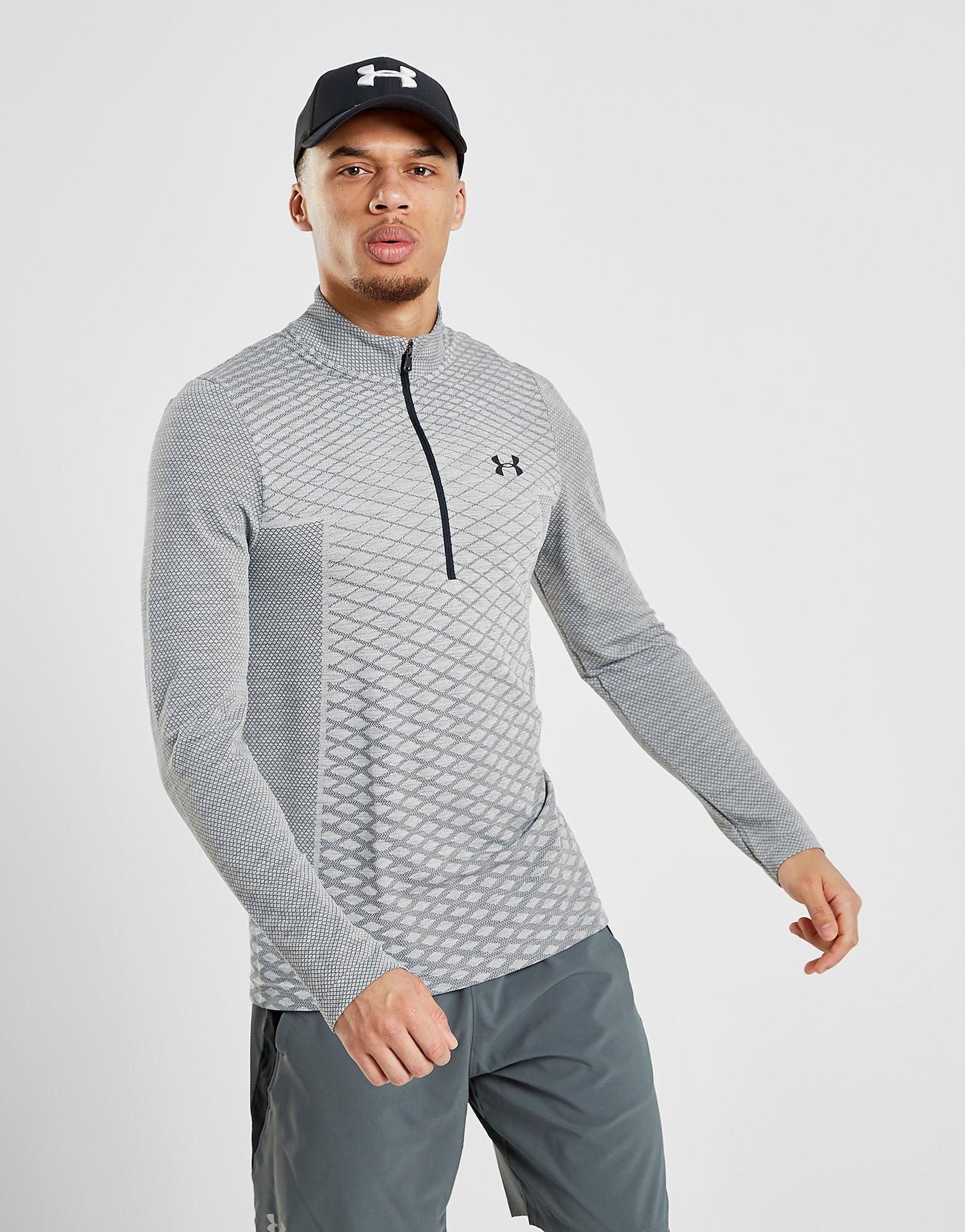 Under Armour Vanish 1/4 Zip Novelty Sweatshirt Heren - Grijs - Heren
