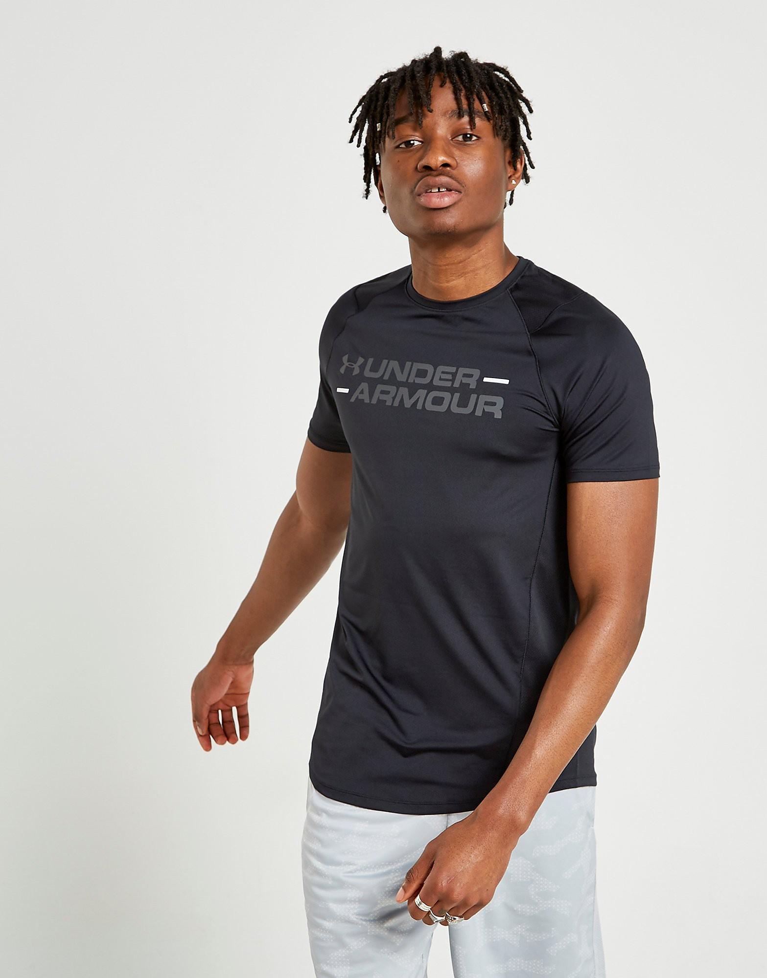 Under Armour MK1 Wordmark T-Shirt - Zwart - Heren