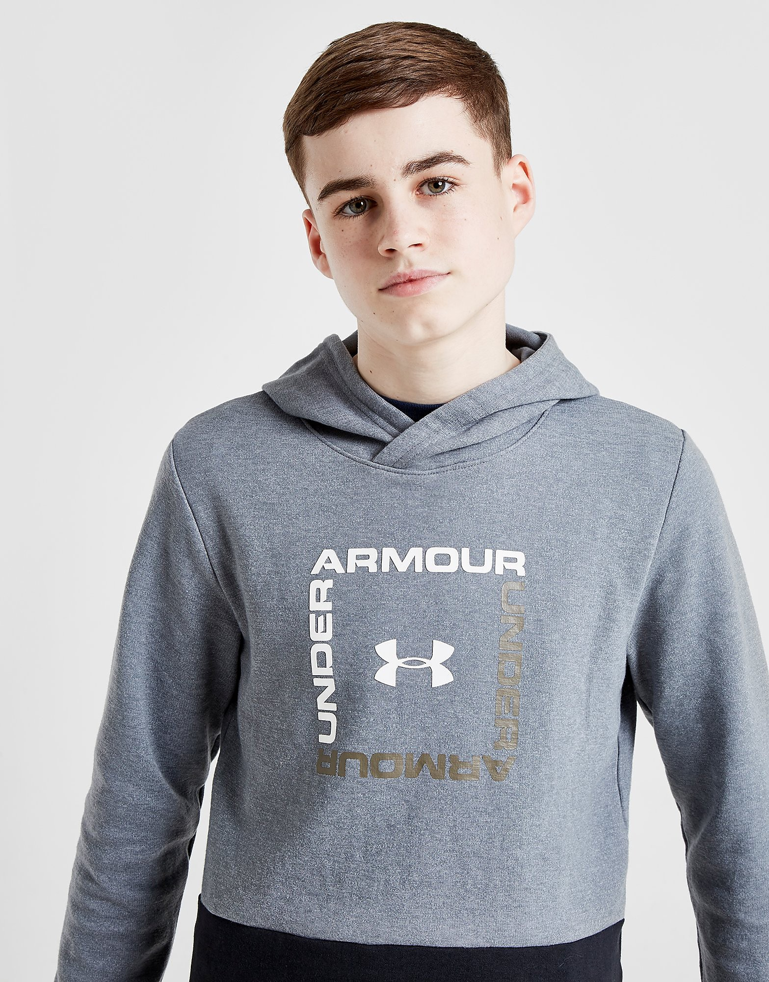 Under Armour Double Knit Hoodie Junior - Grijs - Kind