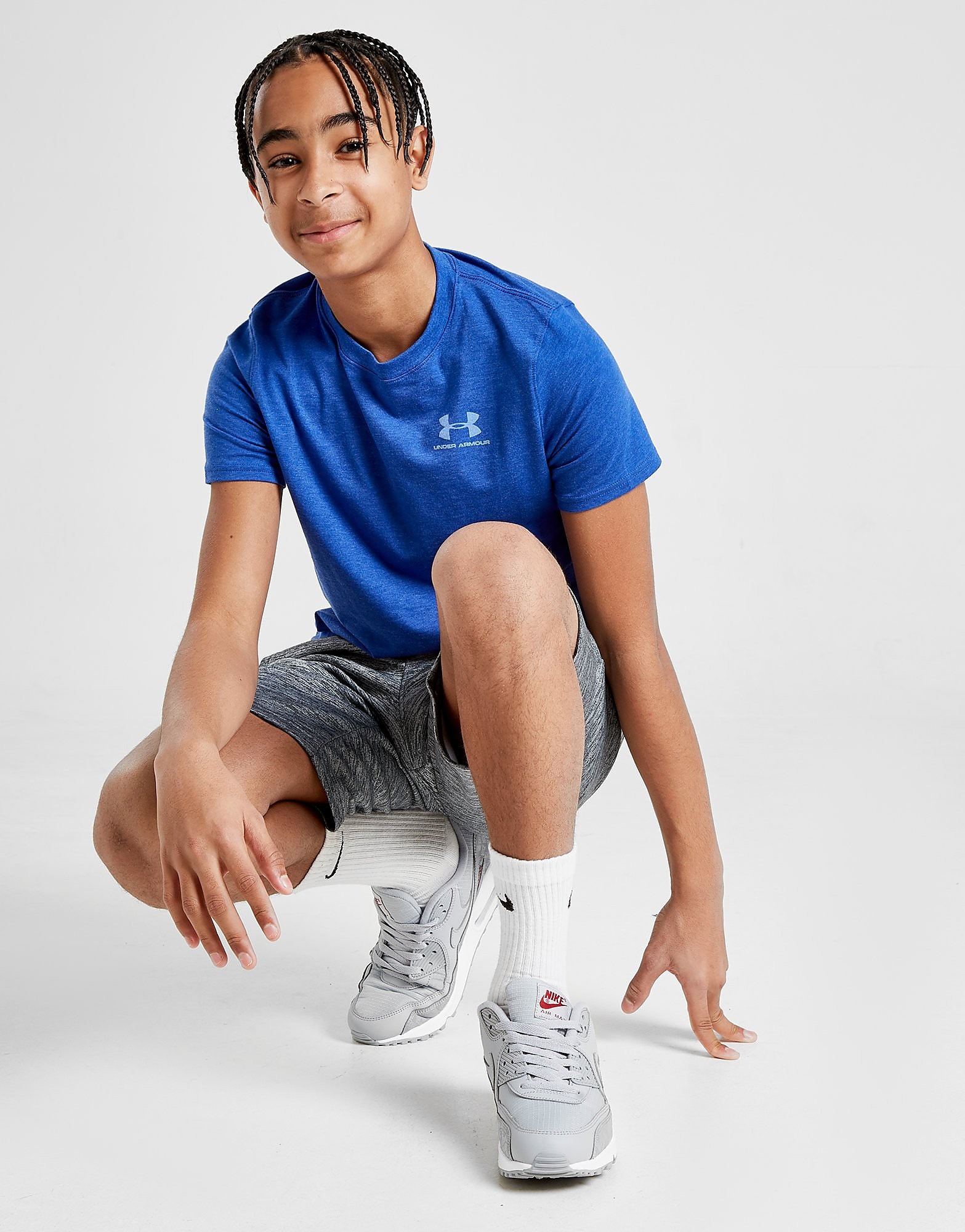 Under Armour Charged Cotton T-Shirt Junior - Blauw - Kind
