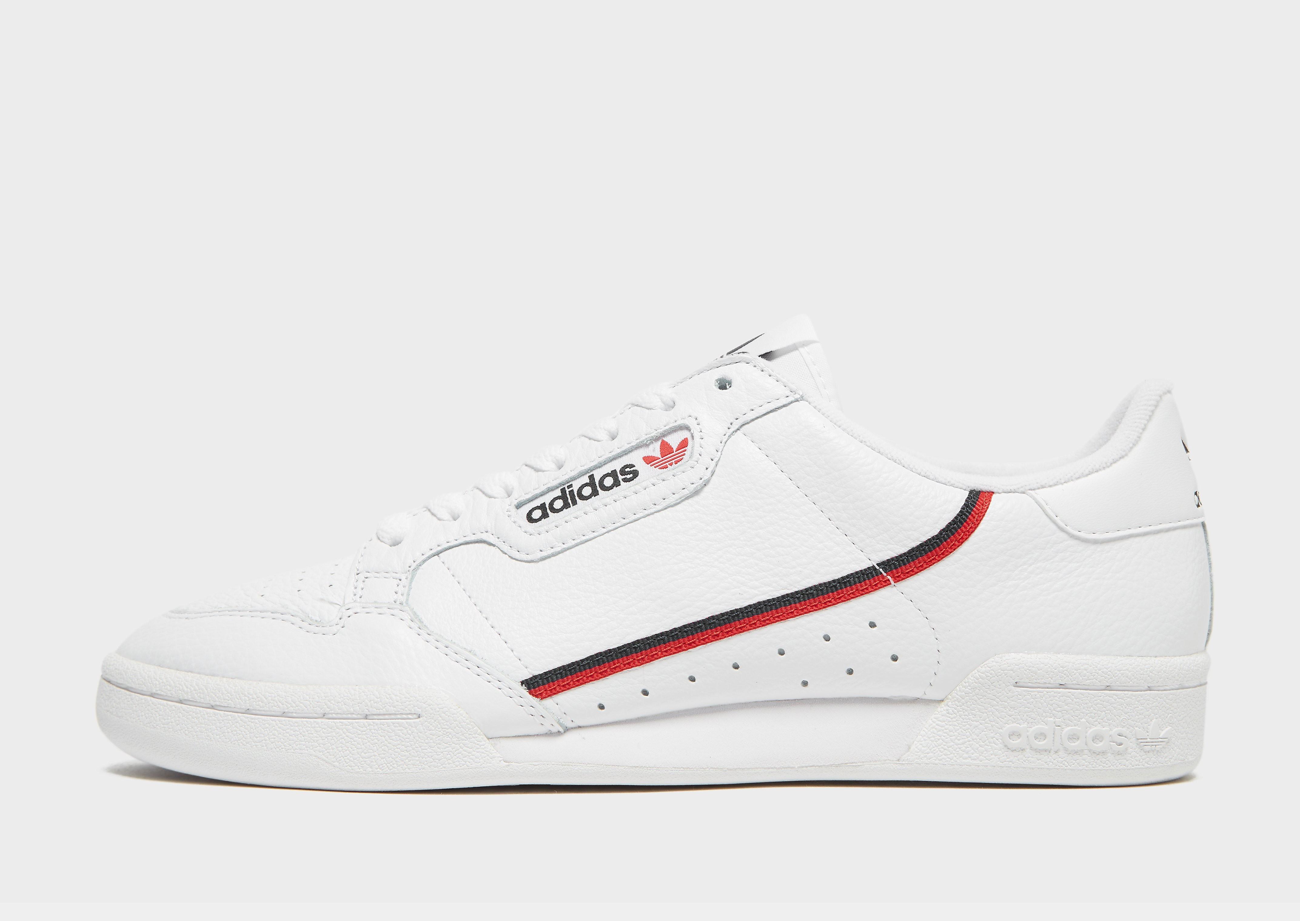 Adidas Continental 80 herensneaker wit en blauw