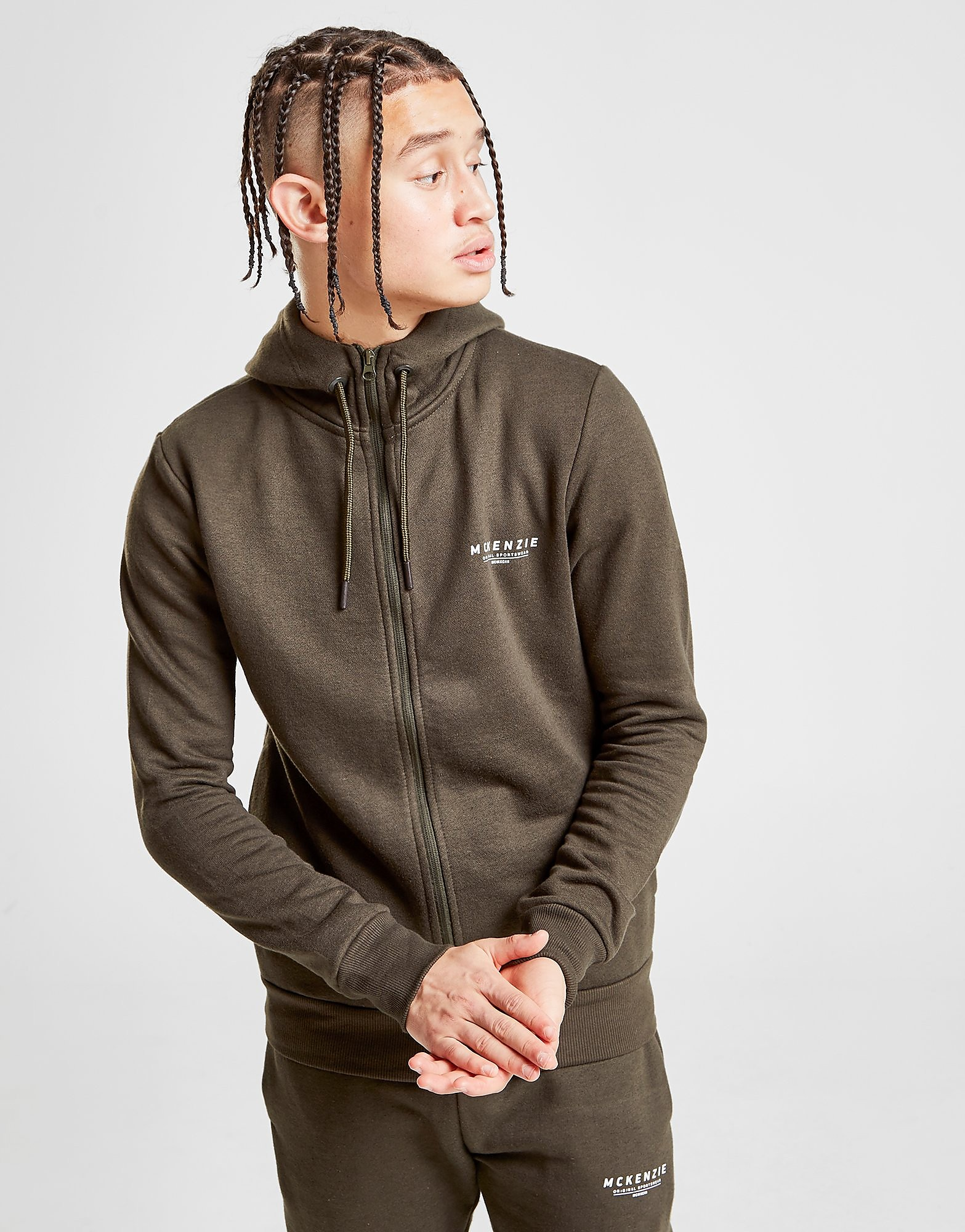McKenzie Essential Zip Through Hoodie - alleen bij JD - Groen - Heren