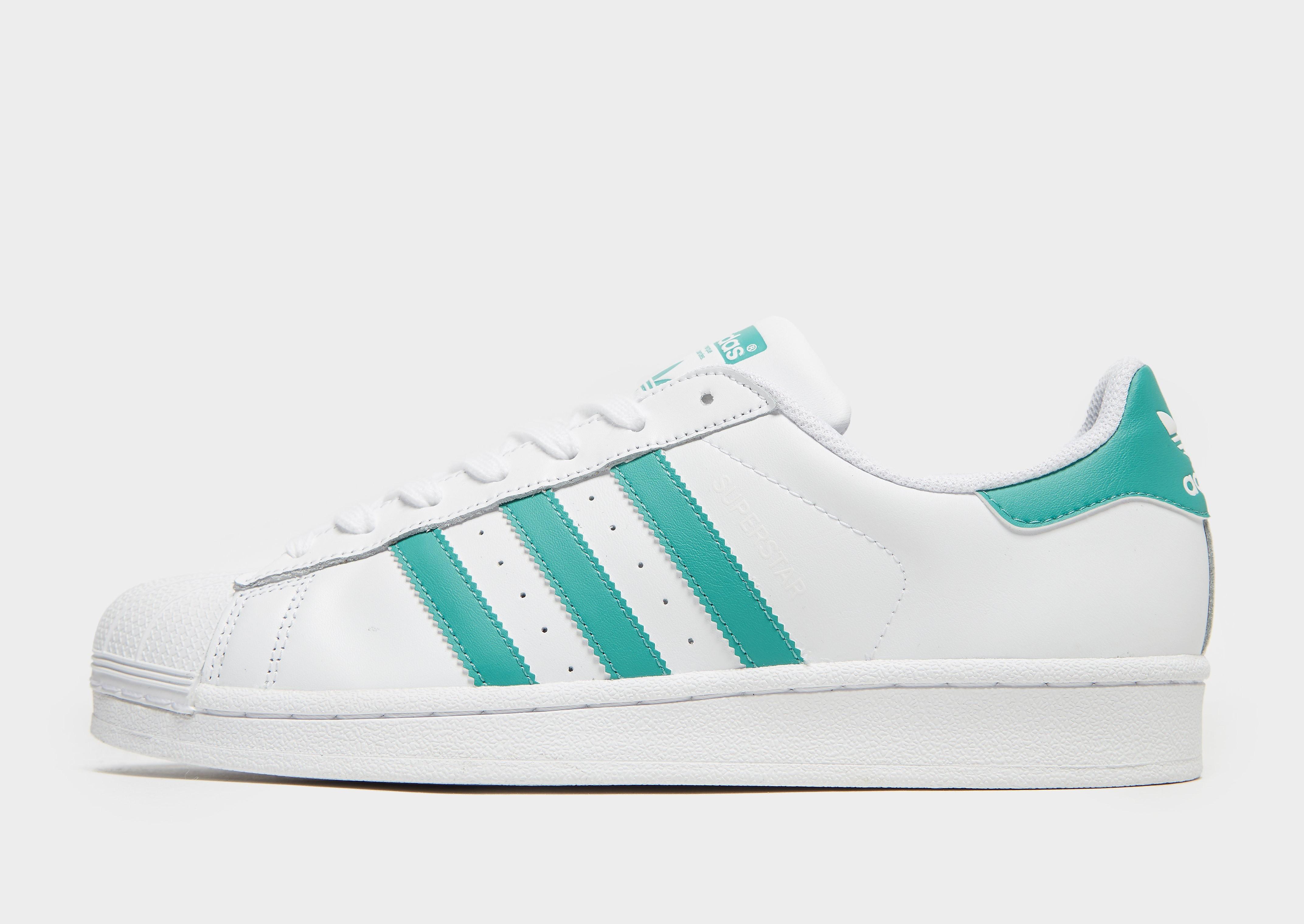 Adidas Superstar herensneaker groen en wit