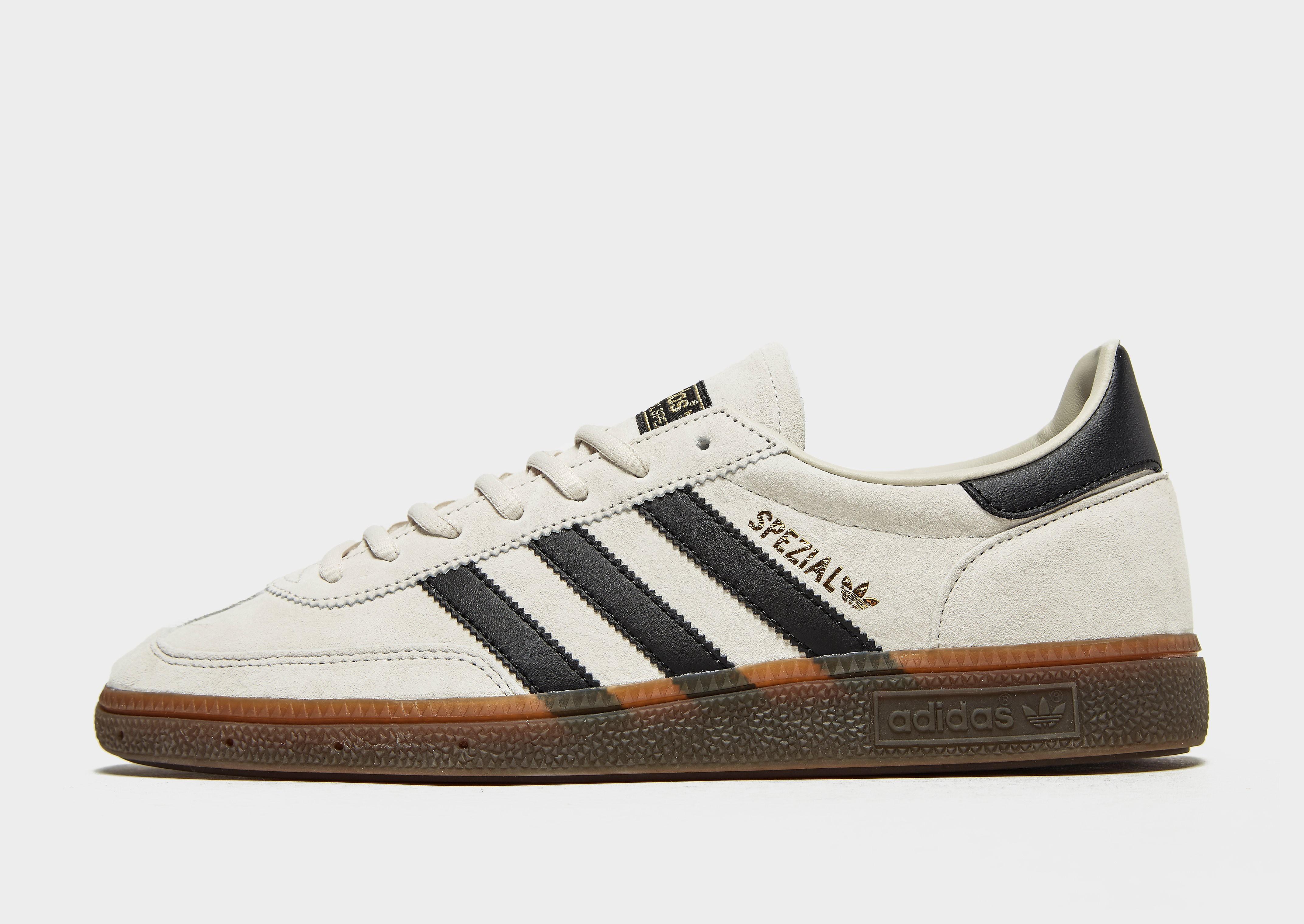 Adidas Spezial herensneaker wit, zwart en goud