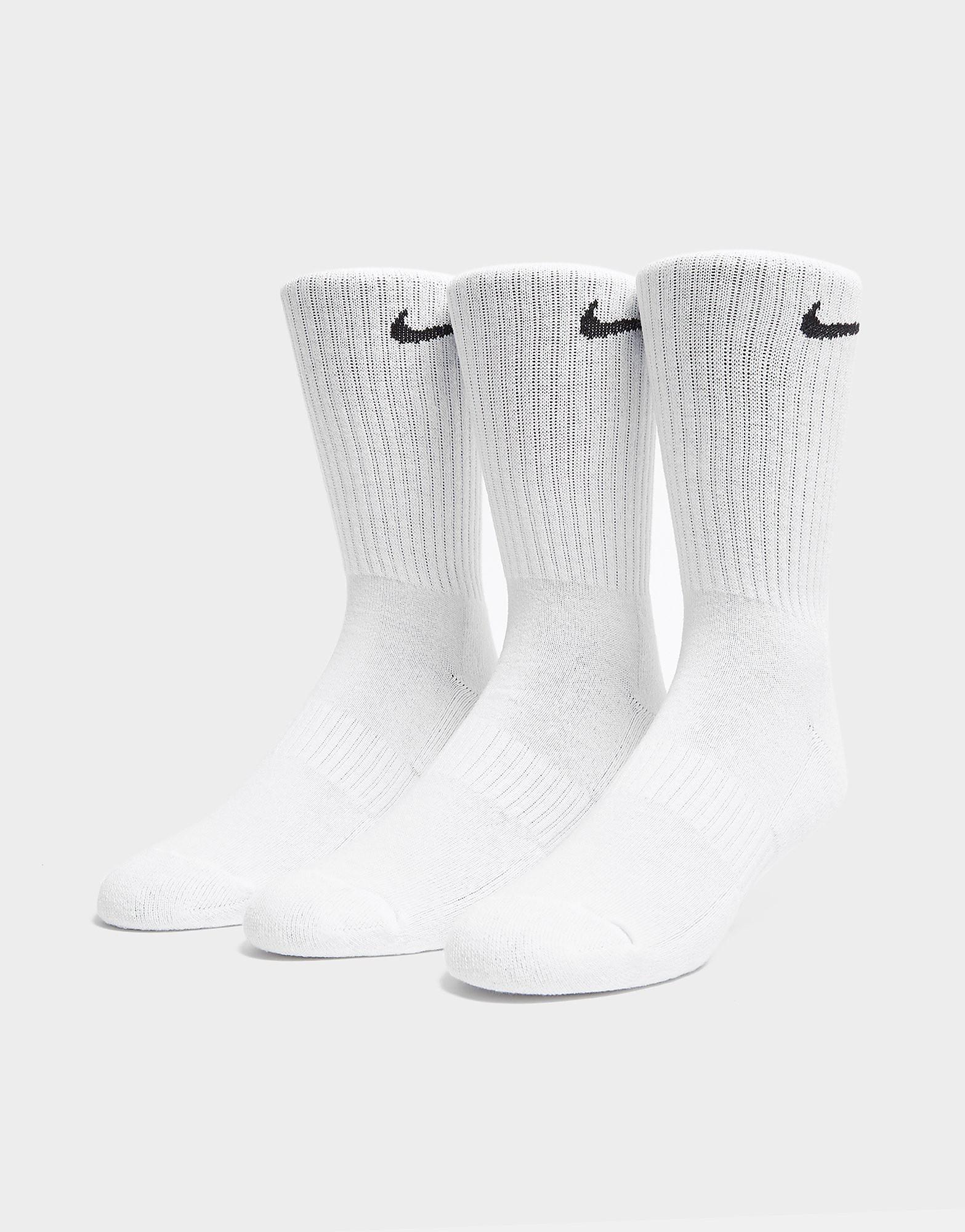 Nike 3-Pack Cushioned Crew Socks Wit Heren