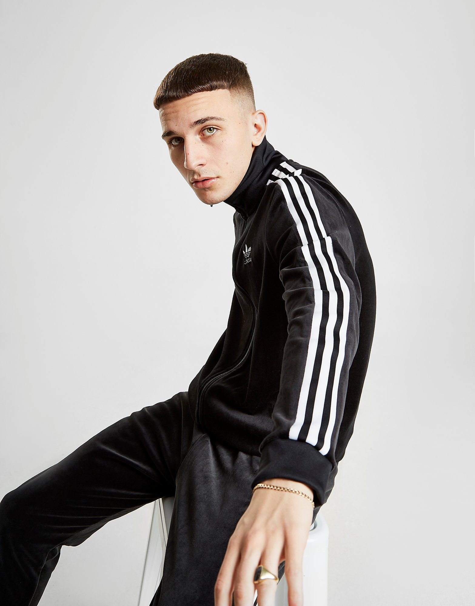 adidas Originals Cozy Track Top - Zwart - Heren