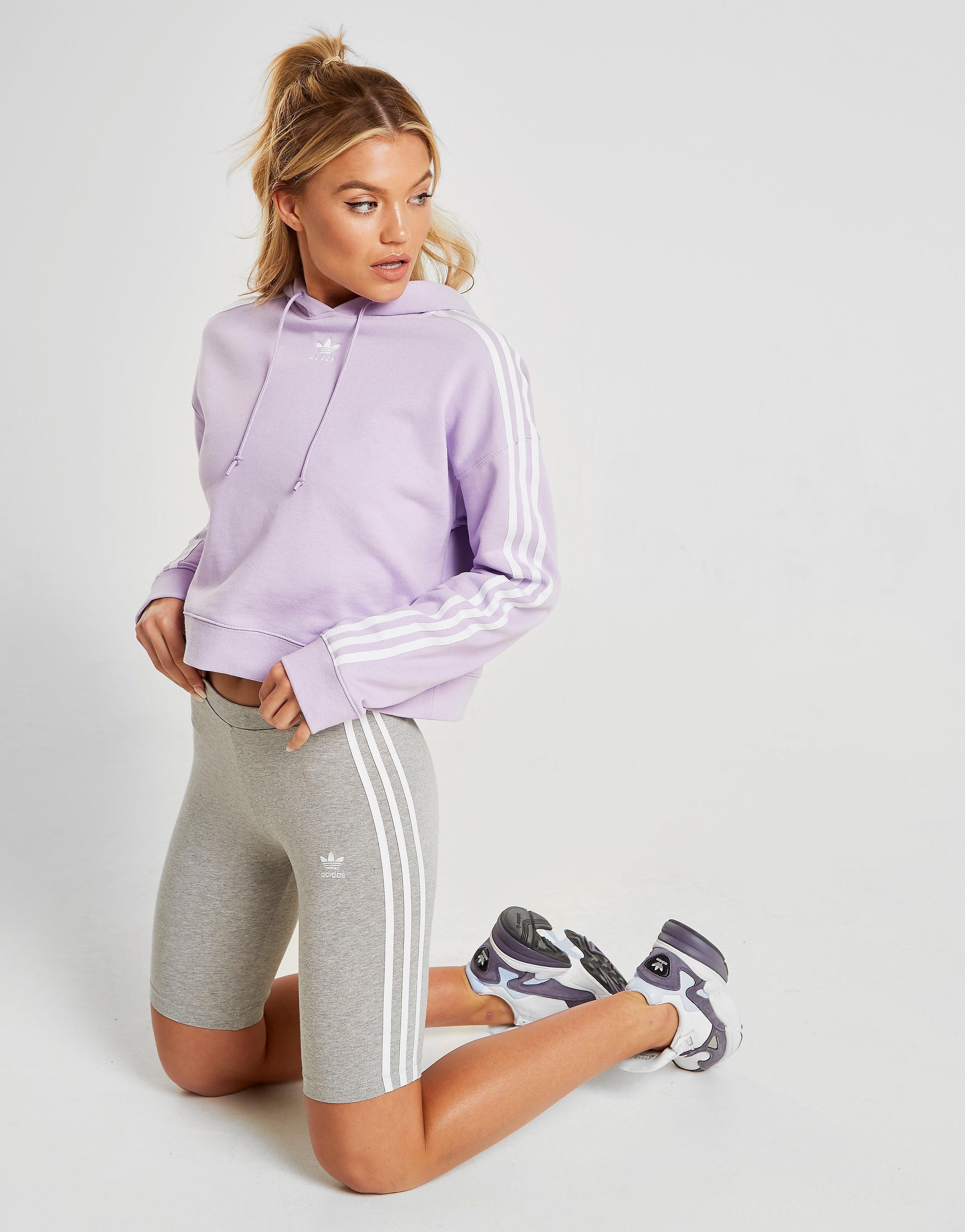 adidas Originals 3-Stripes Cycle Shorts Dames - alleen bij JD - Grijs - Dames