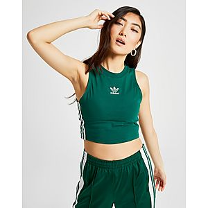 7301c61fa8dd0c ... adidas Originals 3-Stripes Crop Tank Top