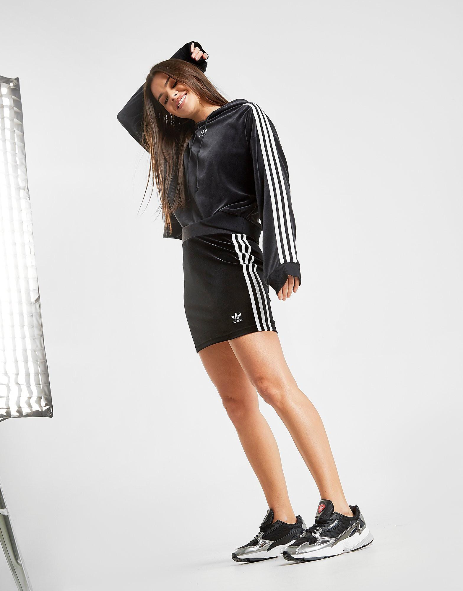 adidas Originals 3-Stripes Bodycon Skirt Dames - Zwart - Dames