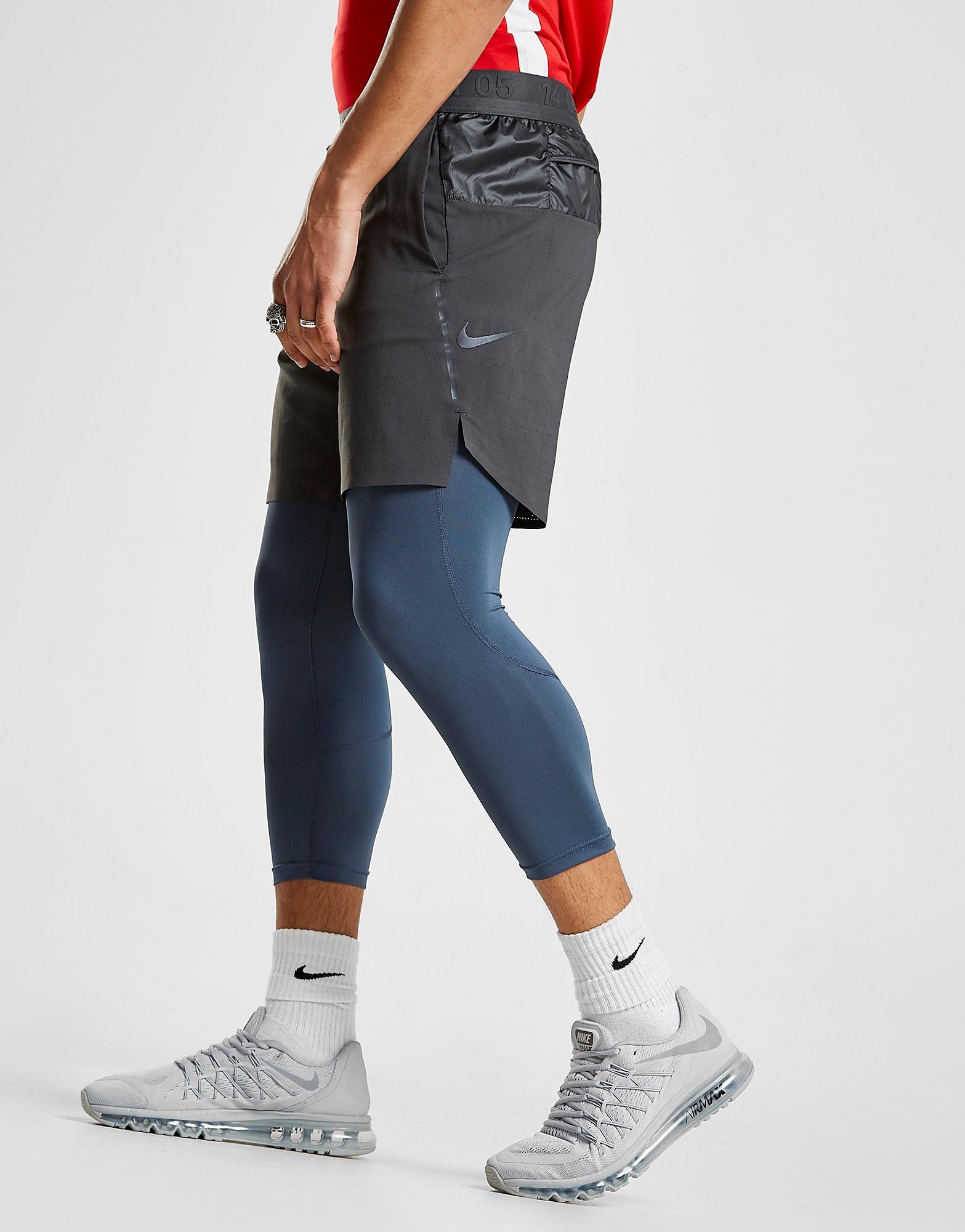 Nike Tech Grid 2in1 Shorts Heren - Zwart - Heren