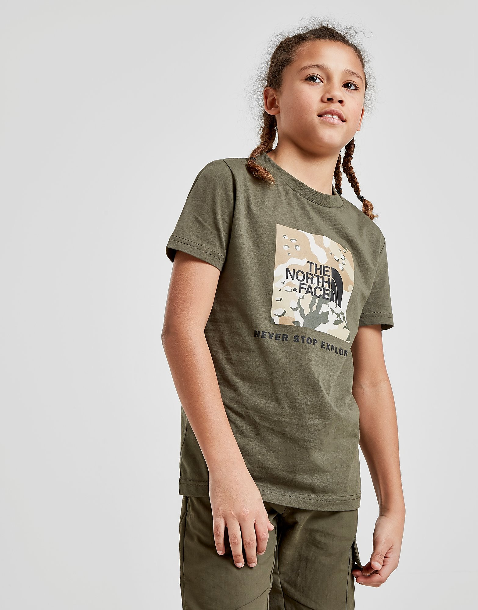 The North Face Box Short Sleeve T-Shirt Junior - Groen - Kind