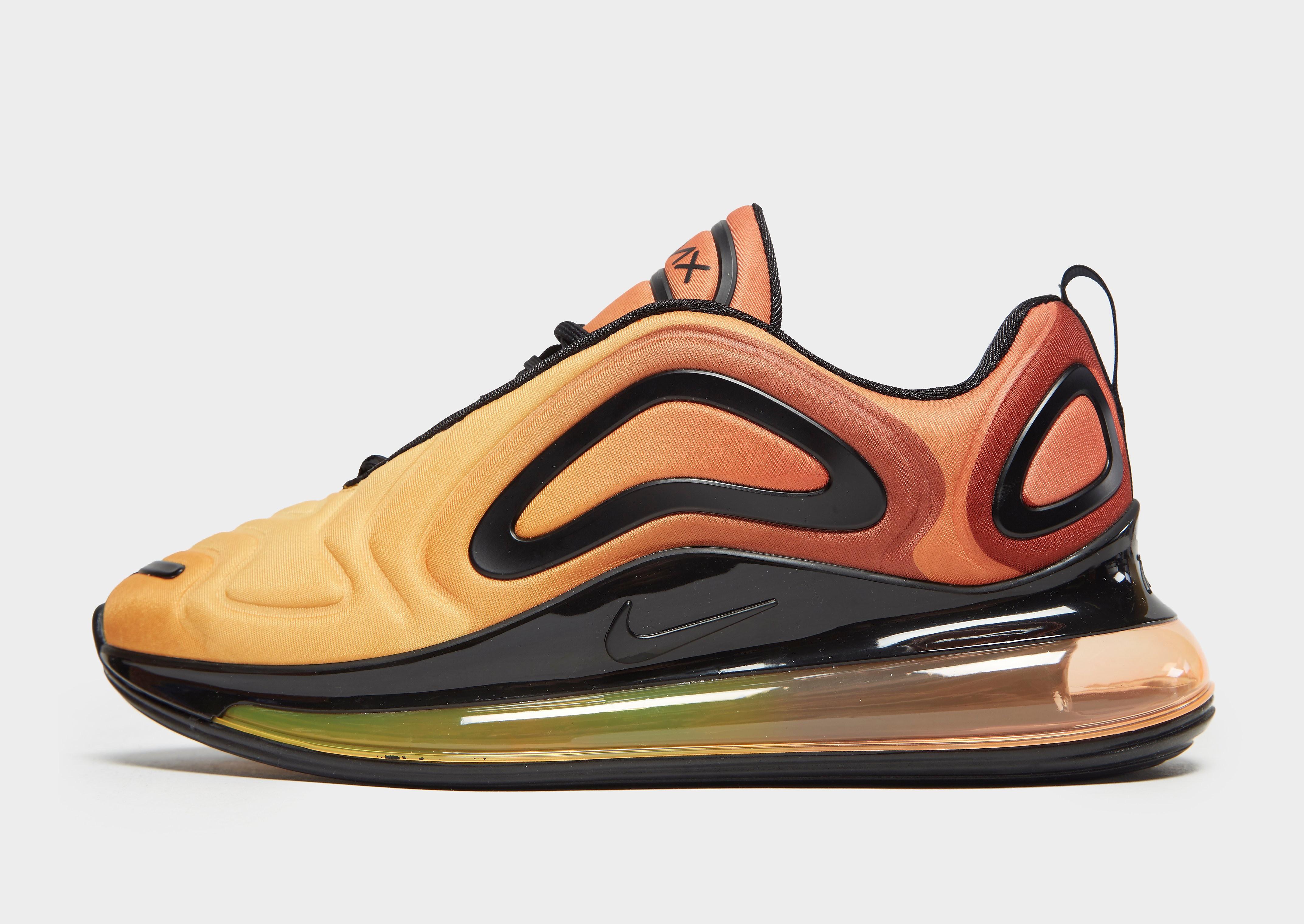 Nike Air Max 720 herensneaker oranje en zwart