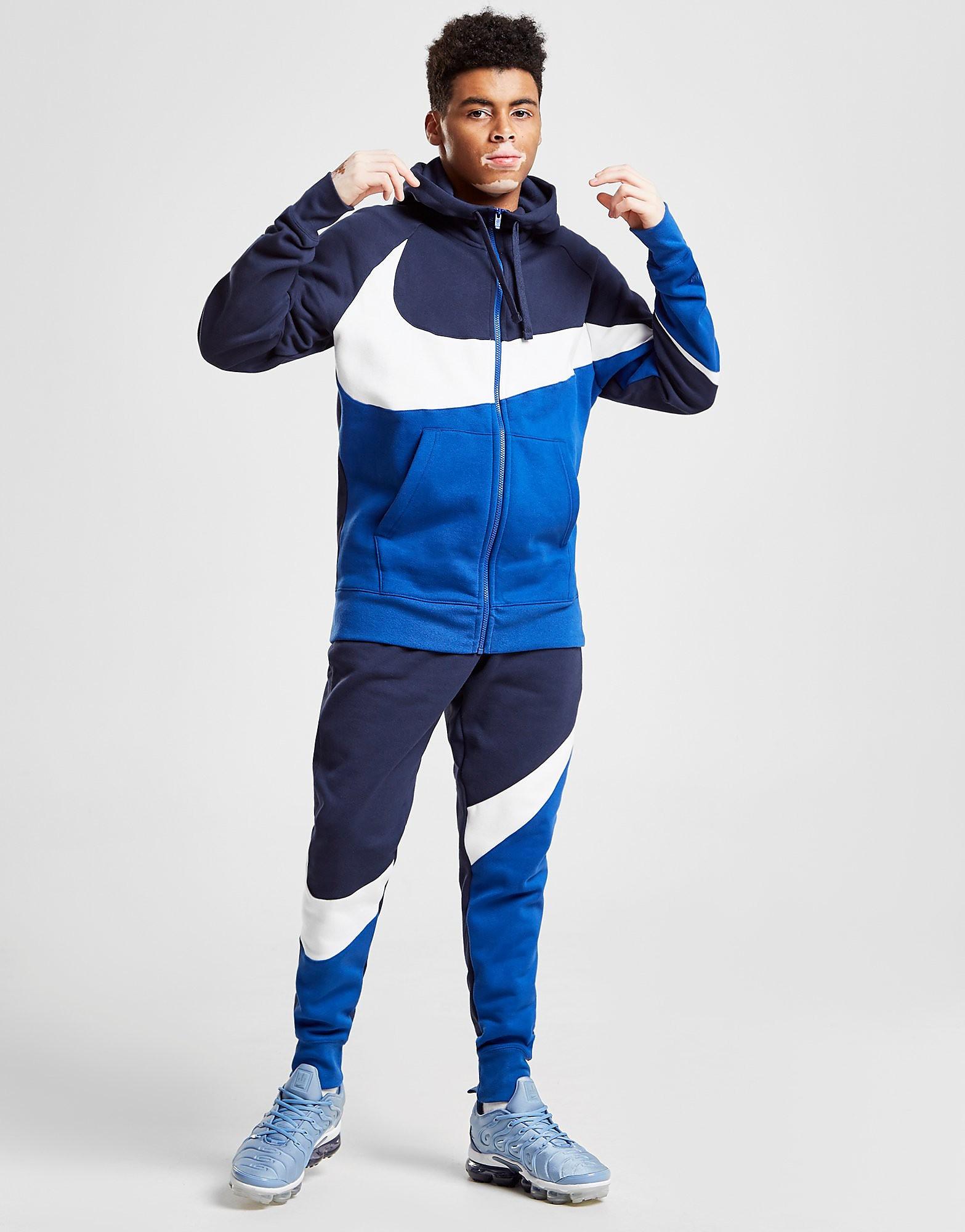 Nike Swoosh Colour Block Joggers Heren - Blauw - Heren